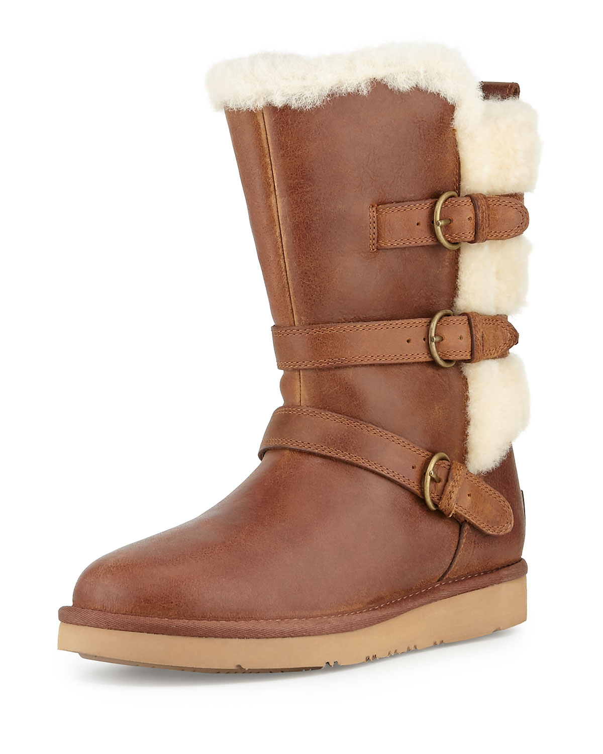 Ugg Becket Triple Buckle Boot In Brown Lyst