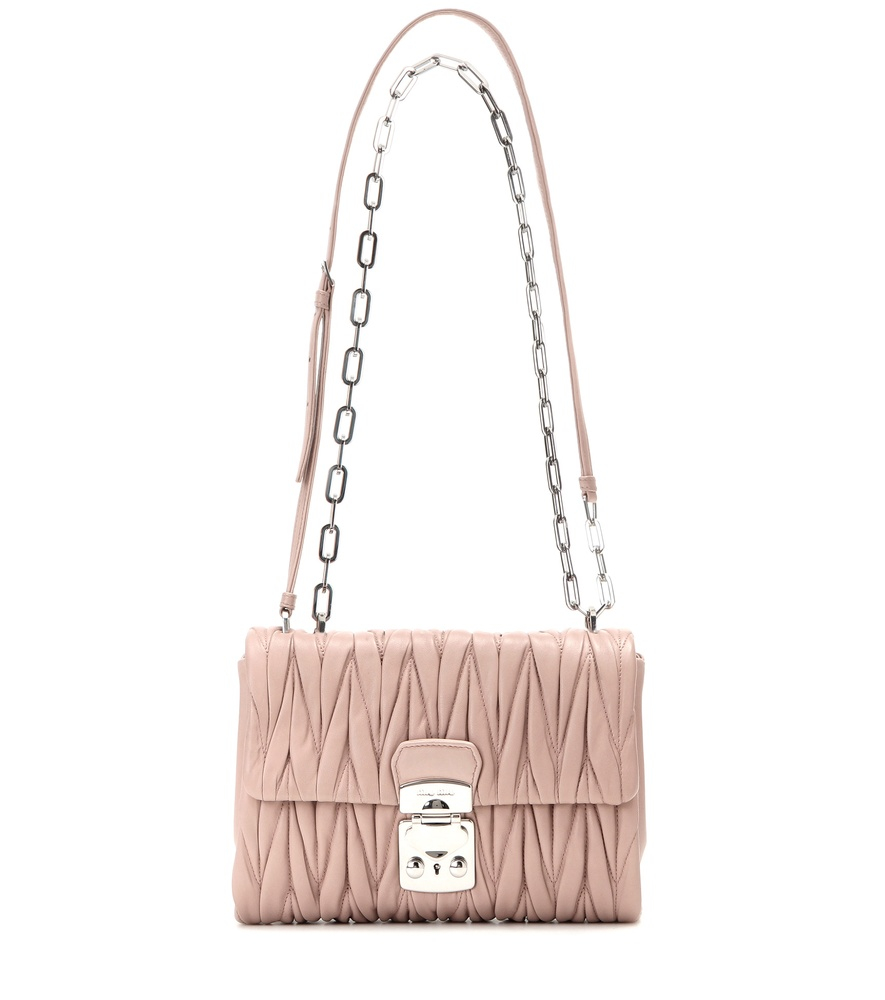 8e1a55933096 Miu Miu Matelassé Leather Pouch