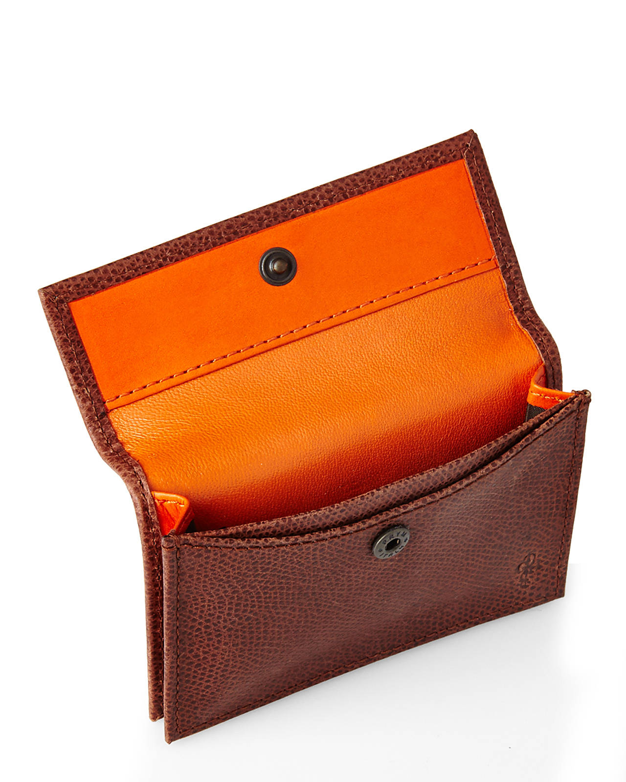low priced 491cb a5345 Cole Haan Brown Greenwich Snap Card Case for men