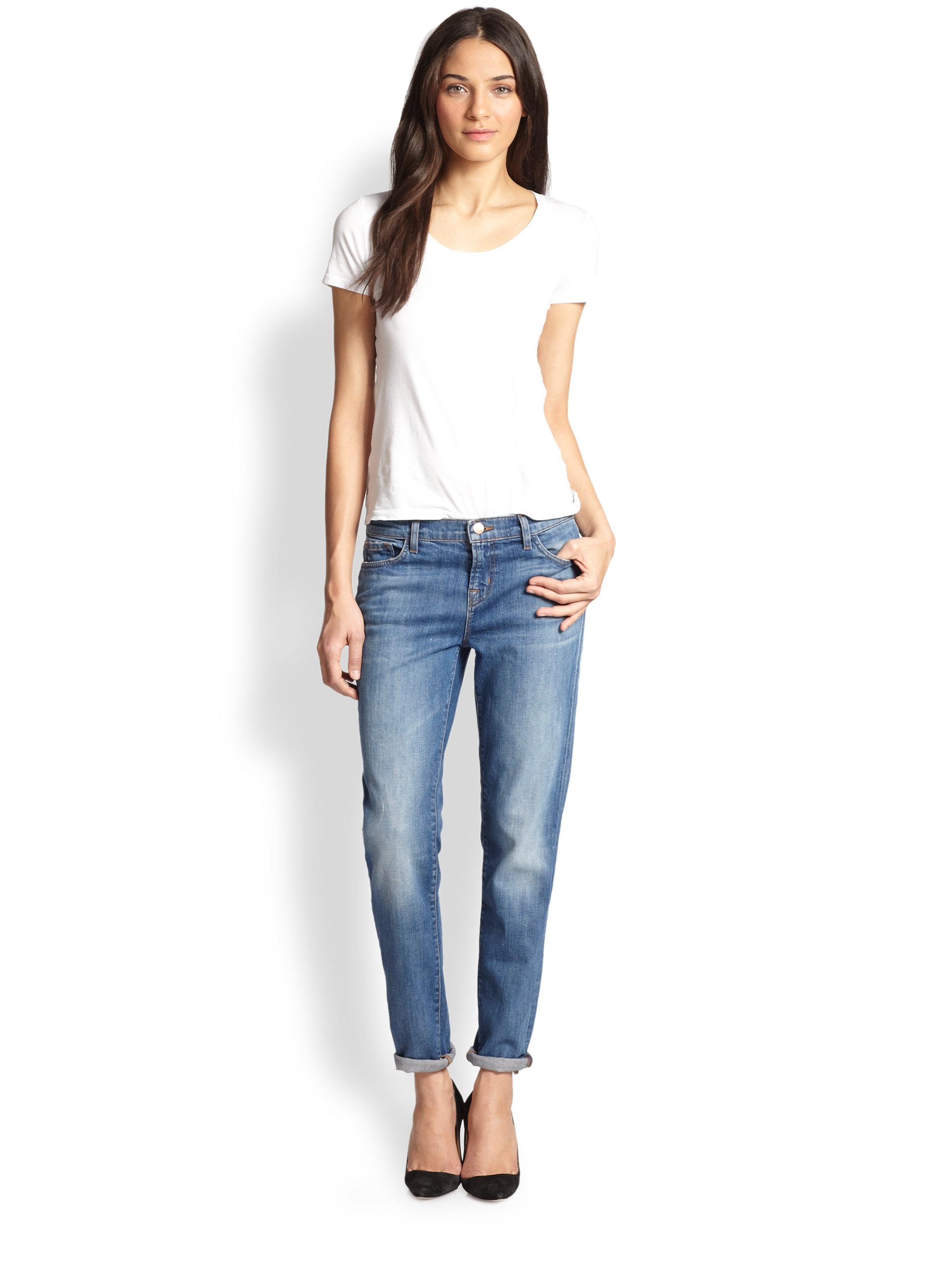J brand Jake Slim-fit Boyfriend Jeans in Blue | Lyst