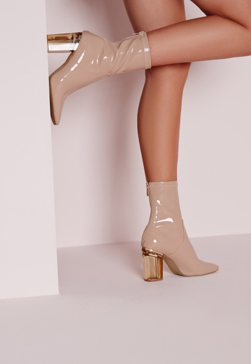 Missguided Perspex Patent Heel Ankle