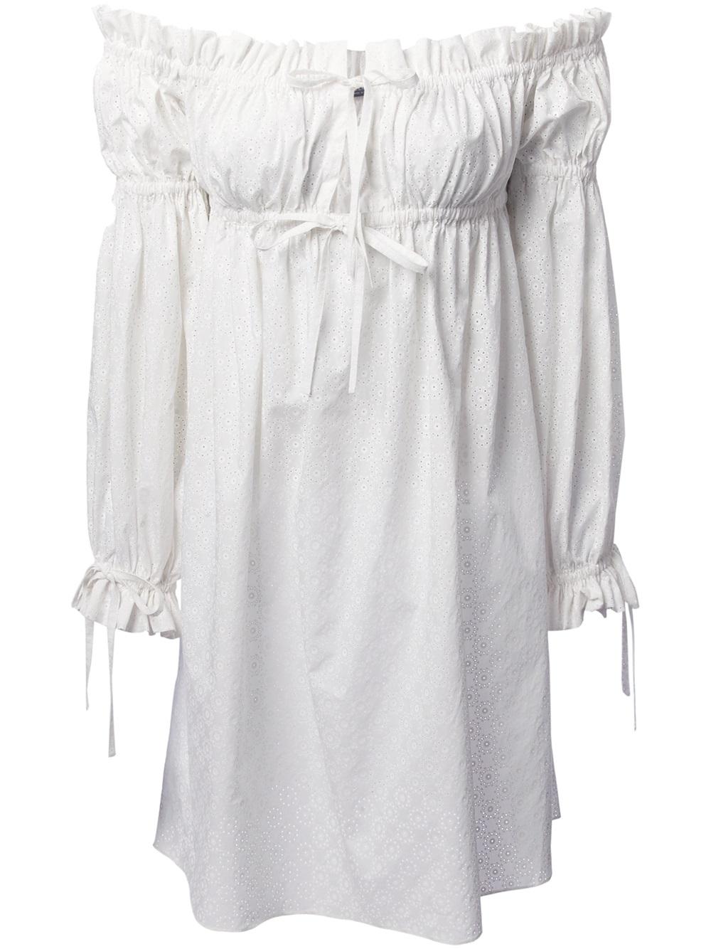 Alexander mcqueen Gypsy Dress in White - Lyst