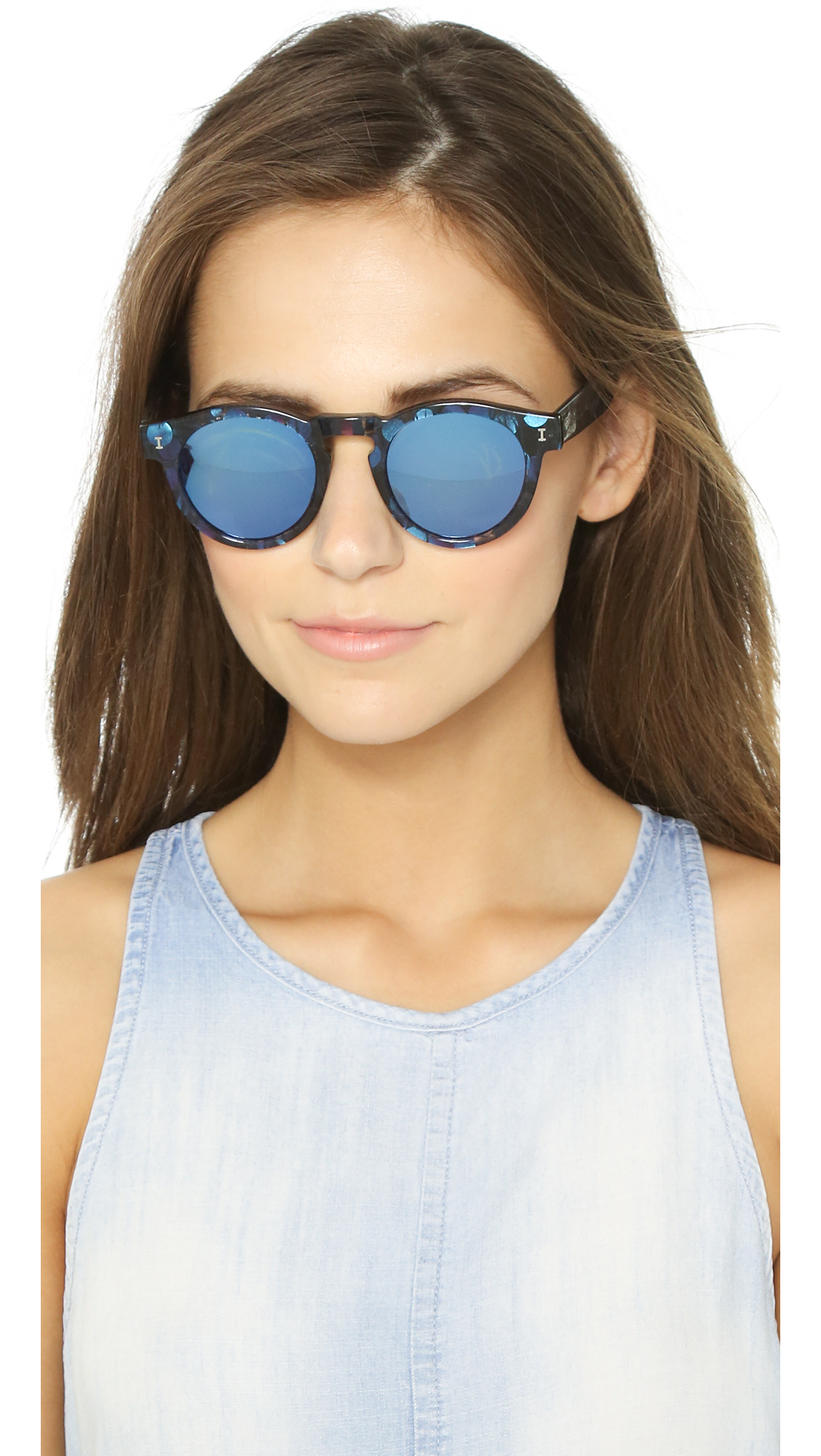 41d527c07 Illesteva Leonard Mirrored Sunglasses - Eco Blueberry/blue in Blue ...