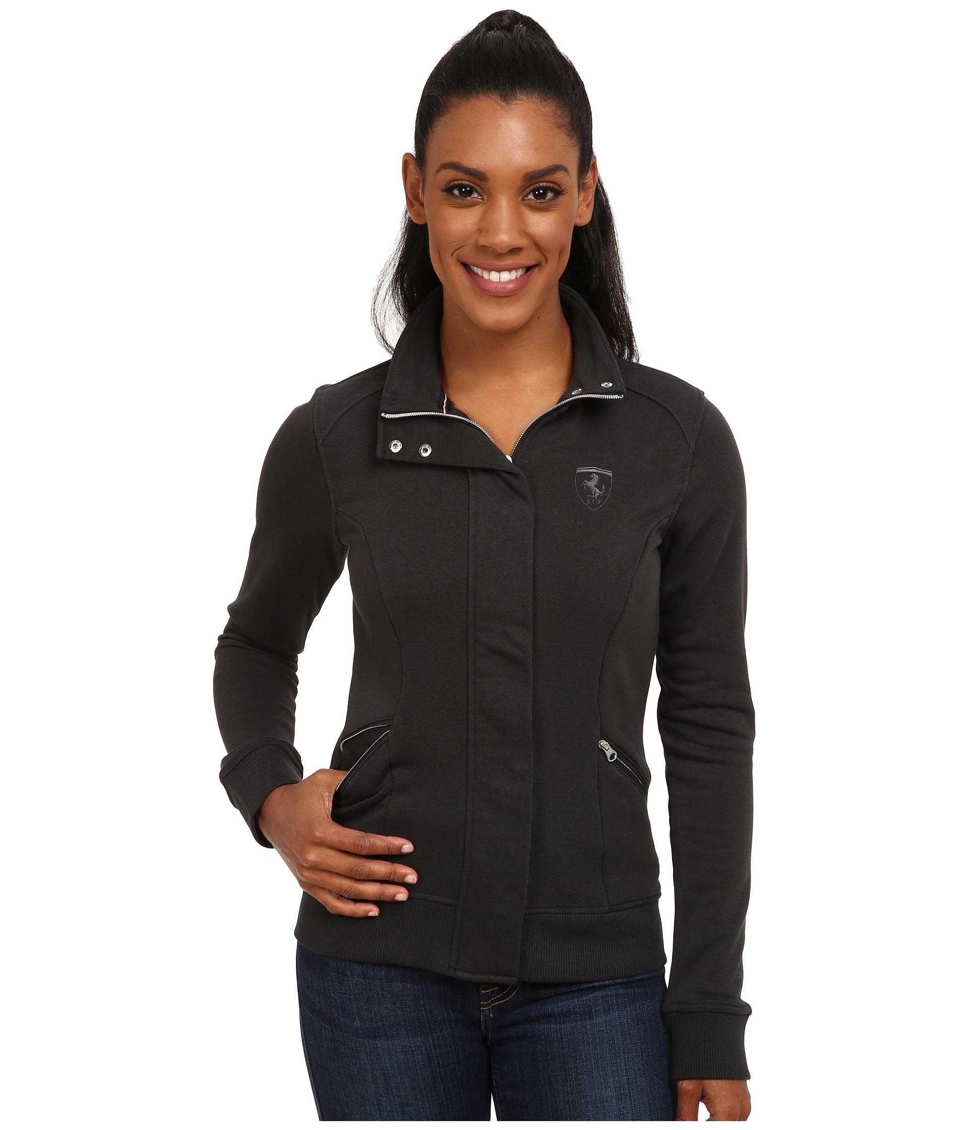 puma ferrari sweat jacket in black lyst. Black Bedroom Furniture Sets. Home Design Ideas