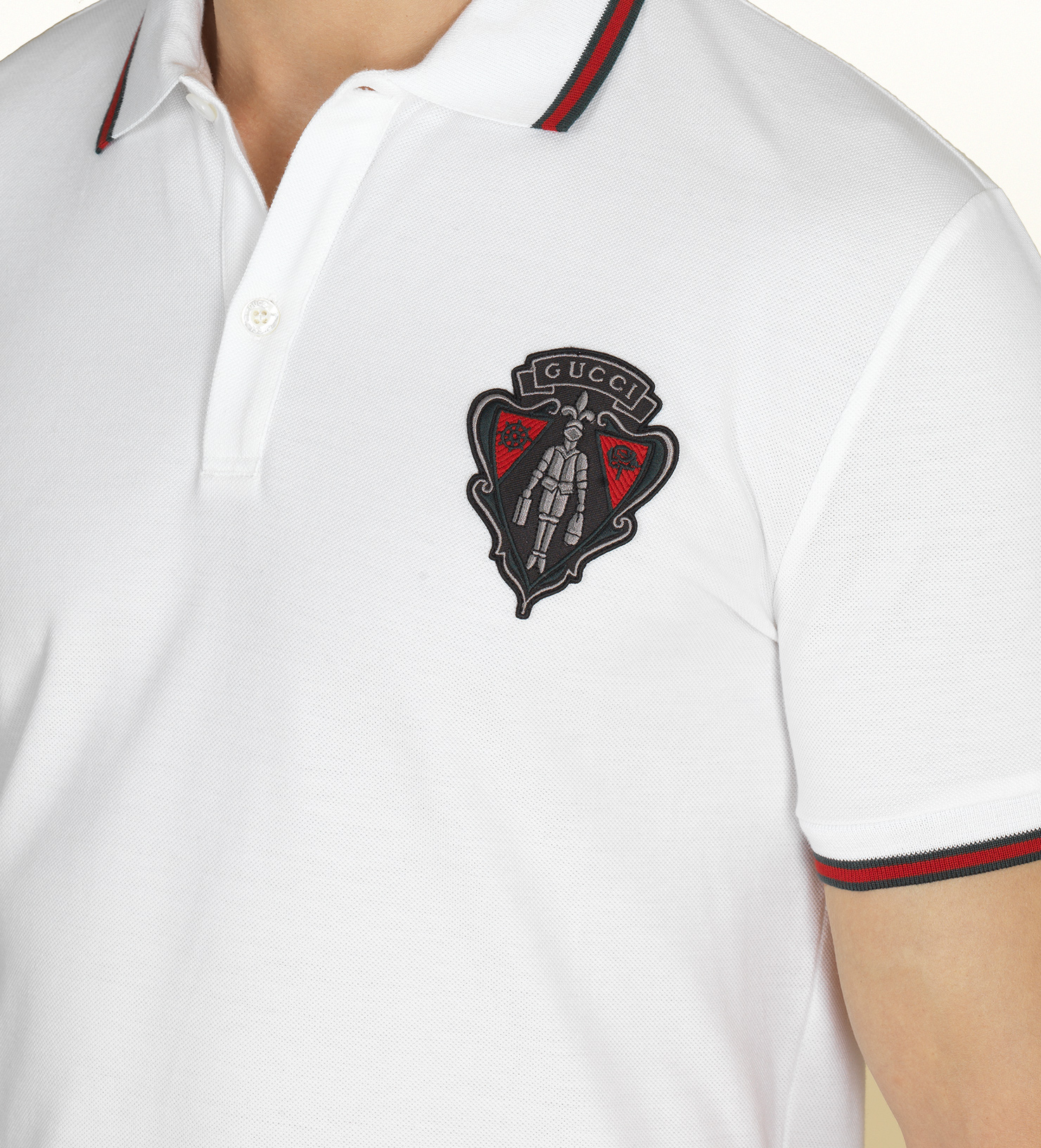 Gucci White Polo Shirt In White For Men Lyst