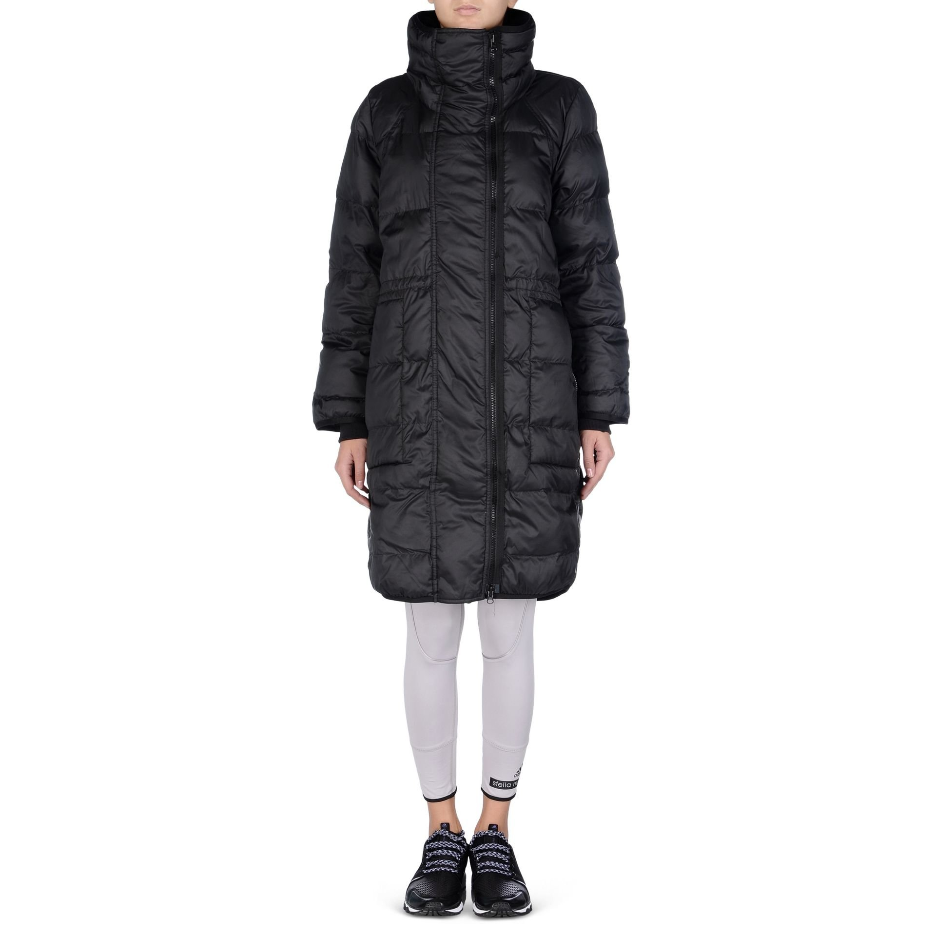 Long hooded quilted jacket | Adidas By Stella McCartney