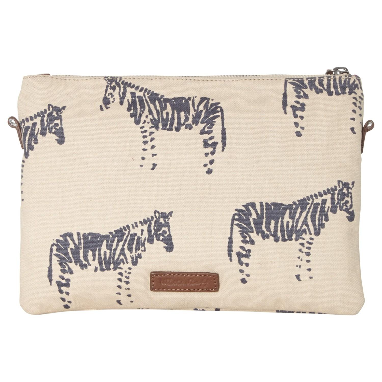 White Stuff Cotton Zebra Crossbody Bag