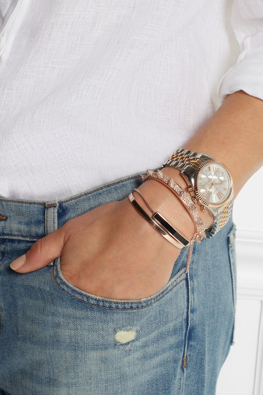 090ec5ca223d6 Lyst - Michael Kors Lexington Stainless Steel Chronograph Watch in Metallic