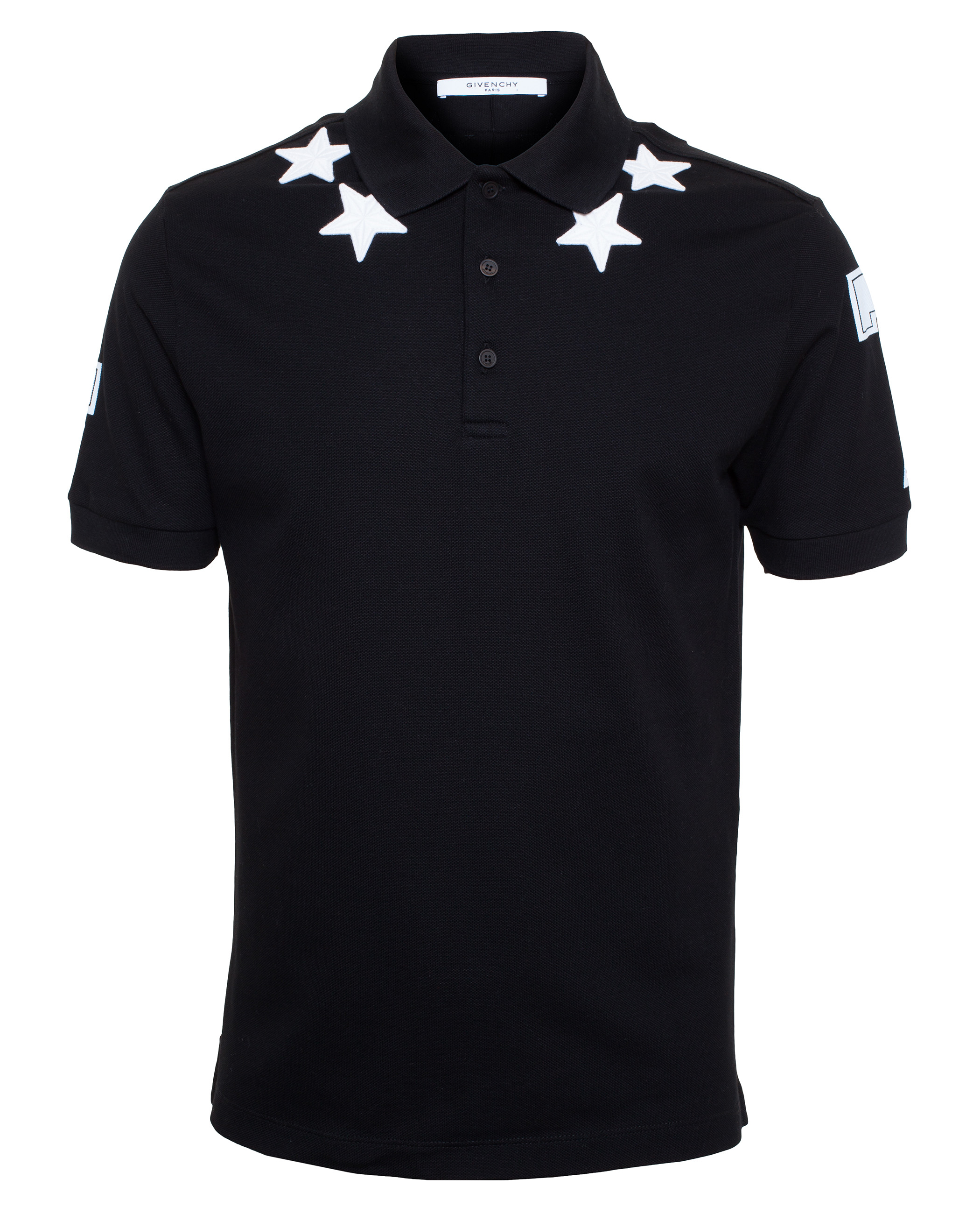 Givenchy Star Polo Shirt In Black For Men Lyst