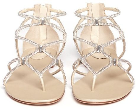Silver Metallic Sandals Flat Sandals in Silver