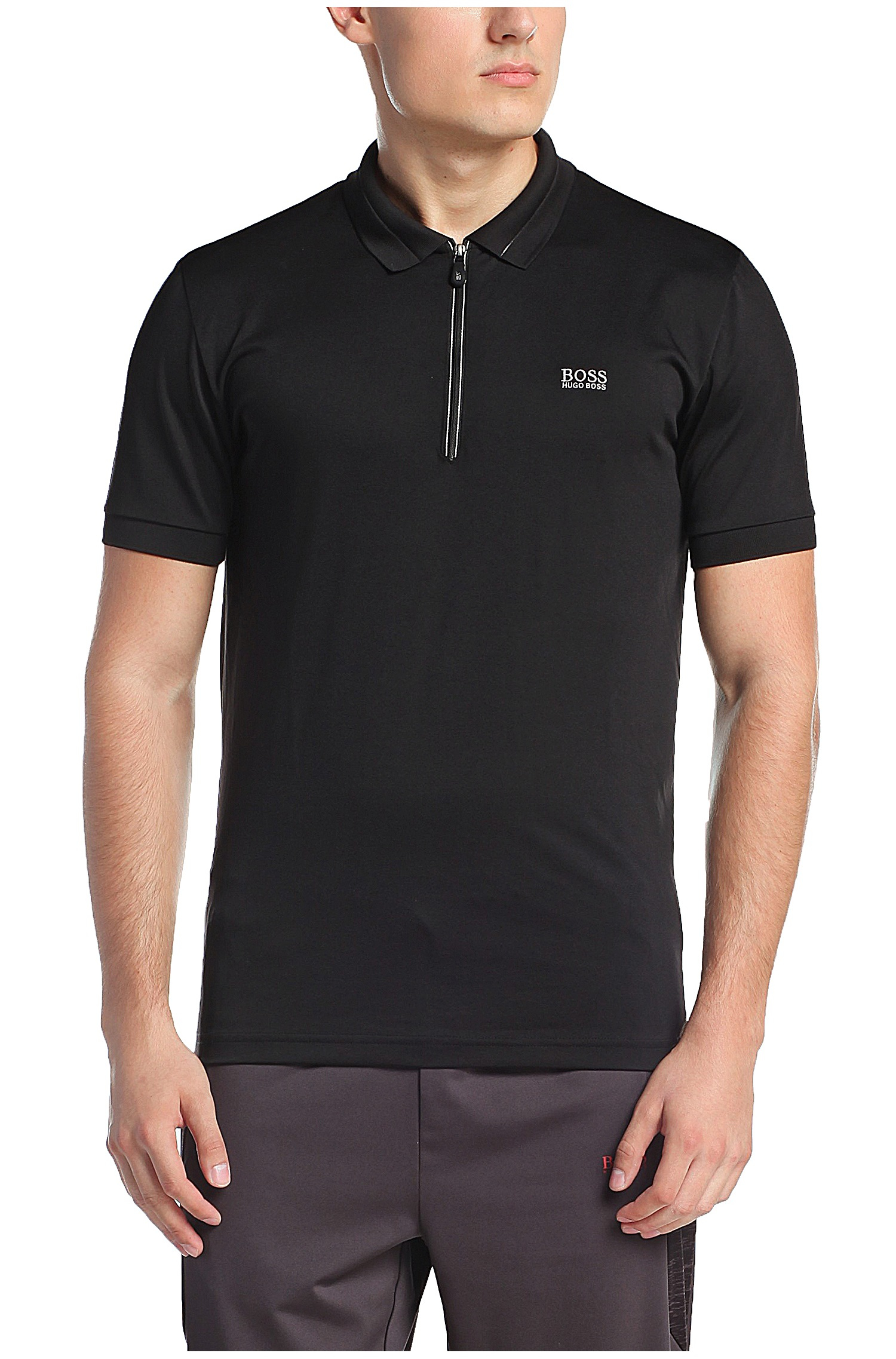 Boss Green Slim Fit Polo Shirt In Jersey 39 Pavotech 39 In
