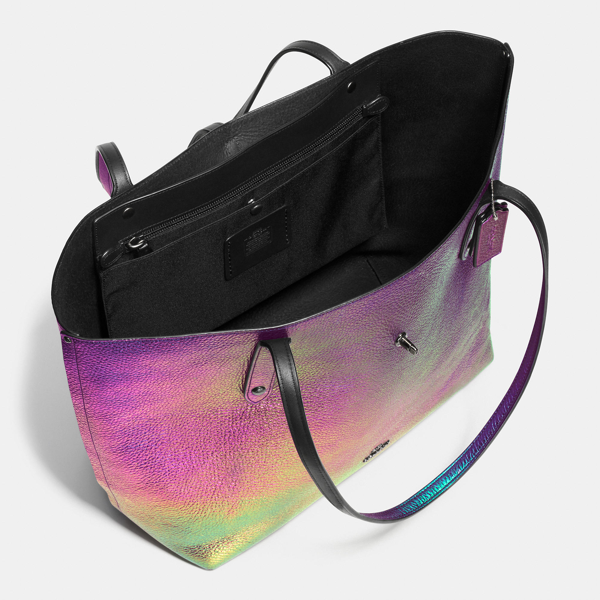 74931fd4d ... promo code for lyst coach market hologram leather tote 28821 3354e