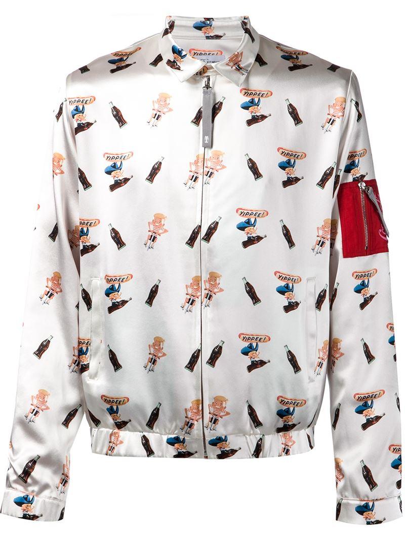 Kit Neale Coca-Cola Print Bomber Jacket in White for Men