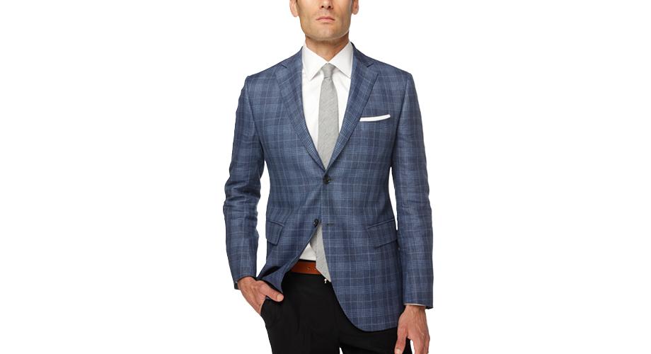 Ledbury The Blue Dorian Windowpane Sport Coat in Blue for Men | Lyst