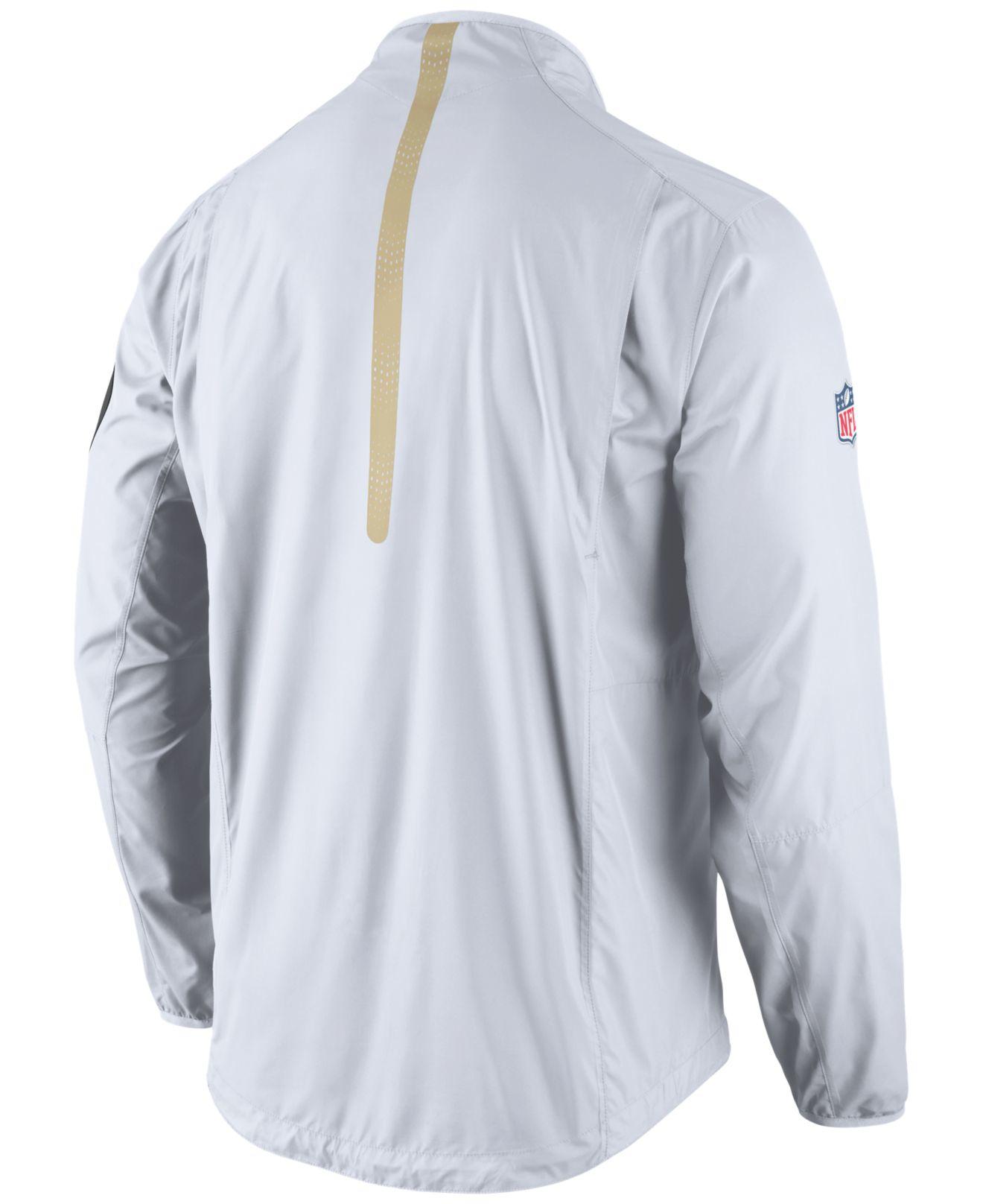 4033a2eca ... Nike Mens New Orleans Saints Lockdown Half-zip Jacket in Whi ...