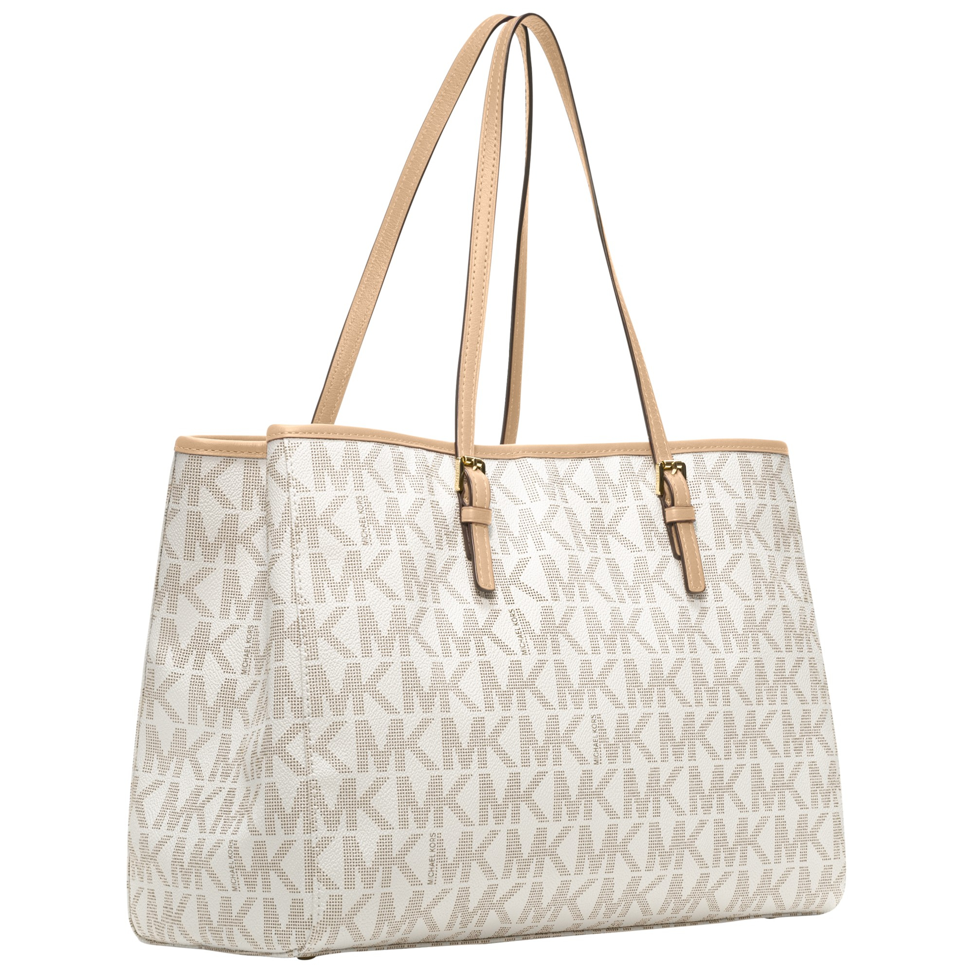 MICHAEL Michael Kors Jet Set Large Eastwest Tote Bag in Vanilla (White)