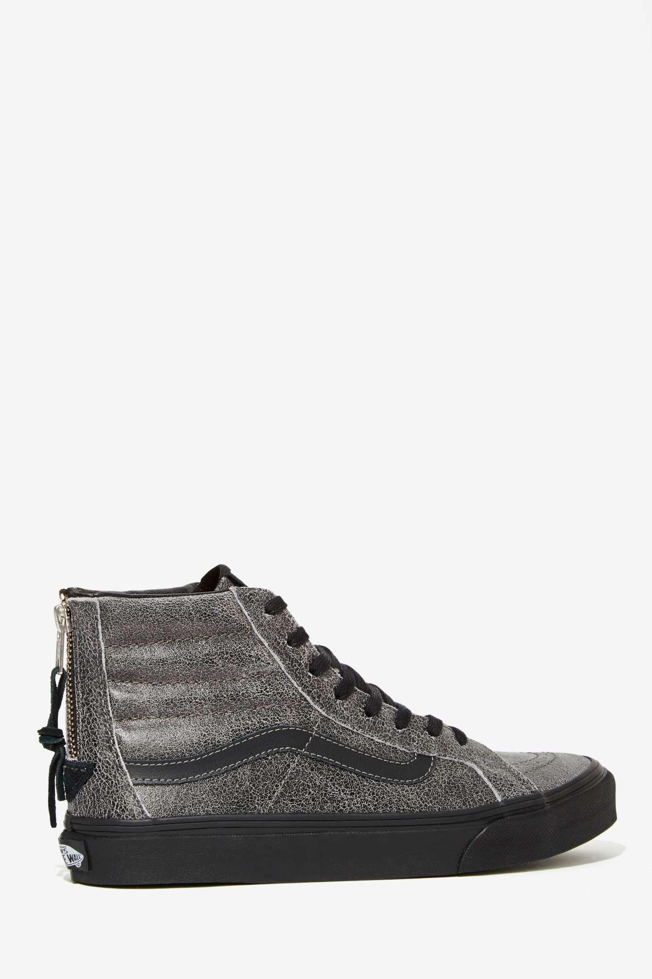 347f5b2db2ad8 Lyst - Vans Sk8-hi Slim Sneaker - Black Crackle Suede in Black