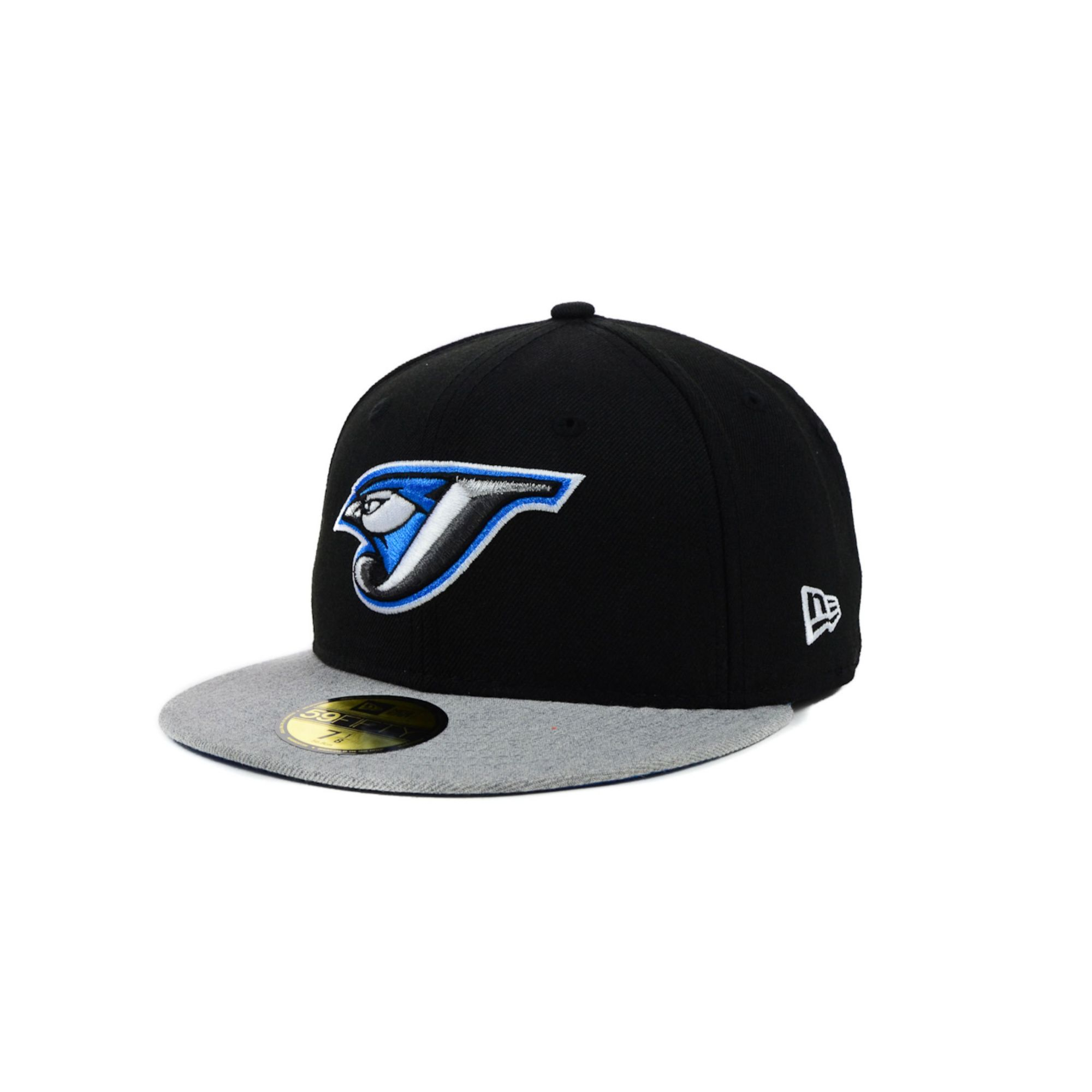 08d5ee5f6f8 ... store lyst ktz toronto blue jays mlb team heather 59fifty cap in black  1a2aa c155a