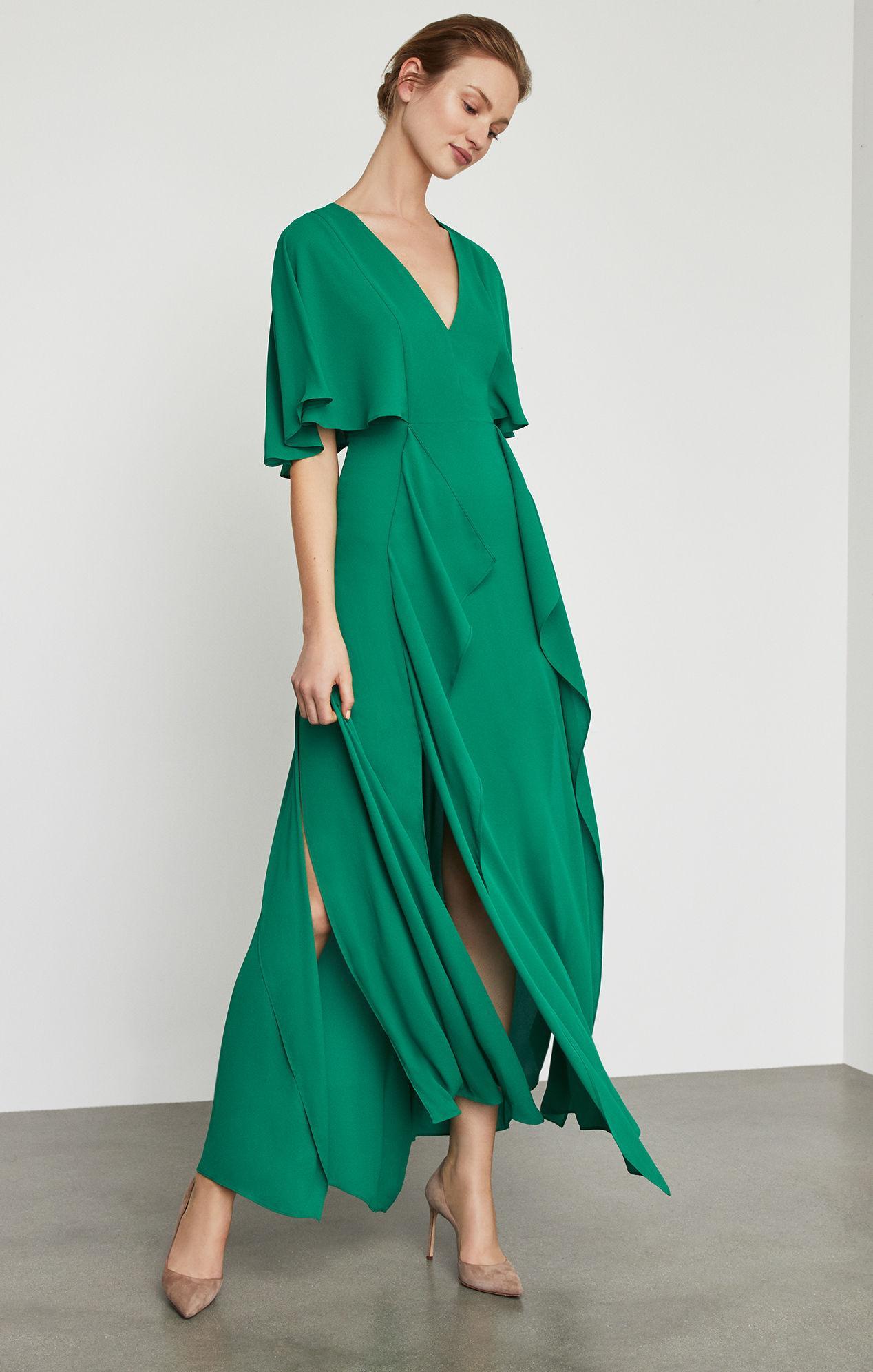 818d7377b8 BCBGMAXAZRIA Bcbg Cape Sleeve Maxi Dress in Green - Save 5% - Lyst