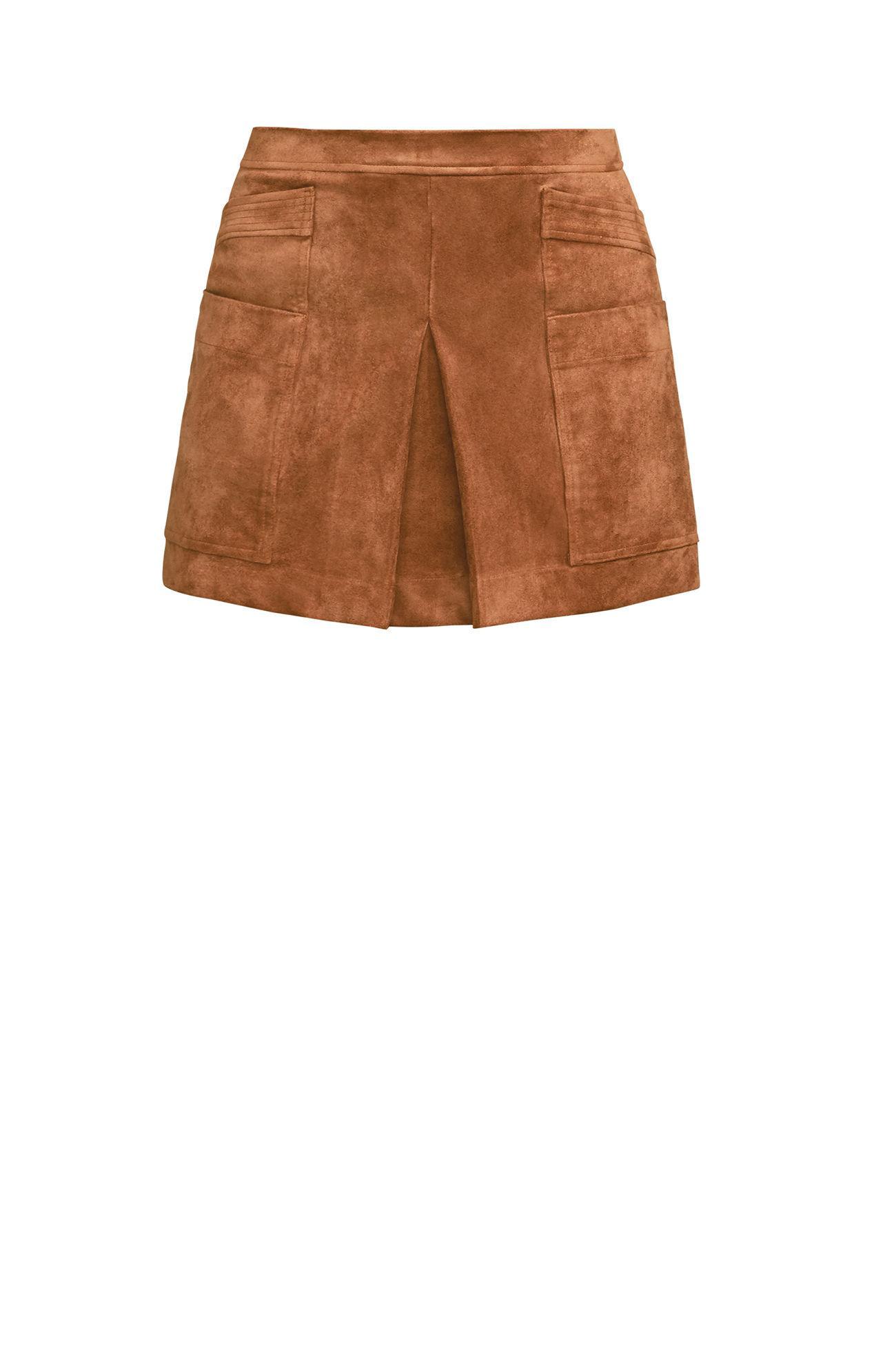 1307d1accb BCBGMAXAZRIA Bcbg Corinne Faux-suede Mini Skirt in Brown - Lyst