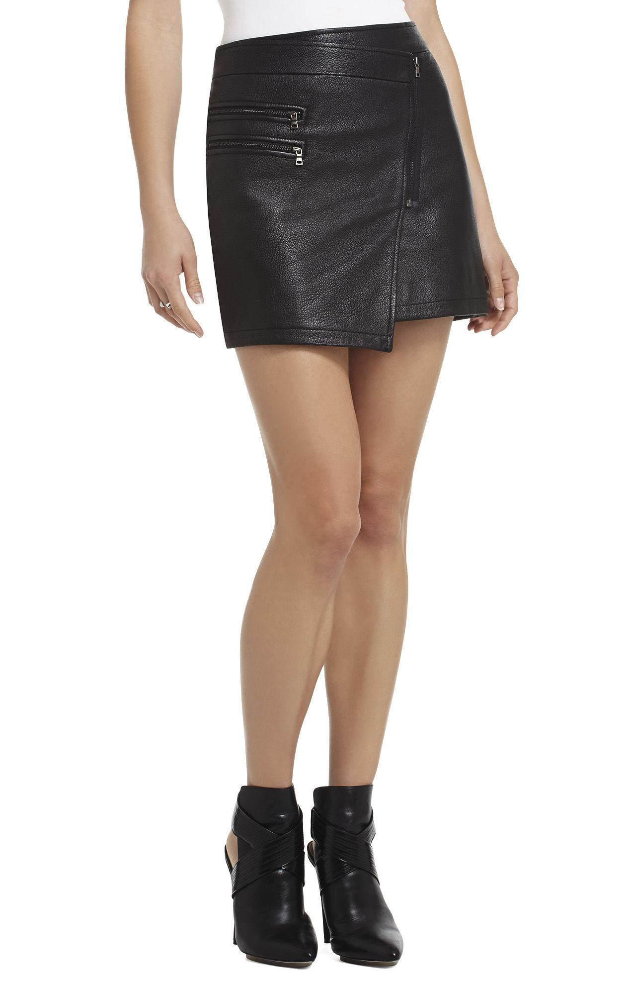 3ea22d7b17 Gallery. Previously sold at: BCBGMAXAZRIA · Women's Leather Skirts Women's  Black ...