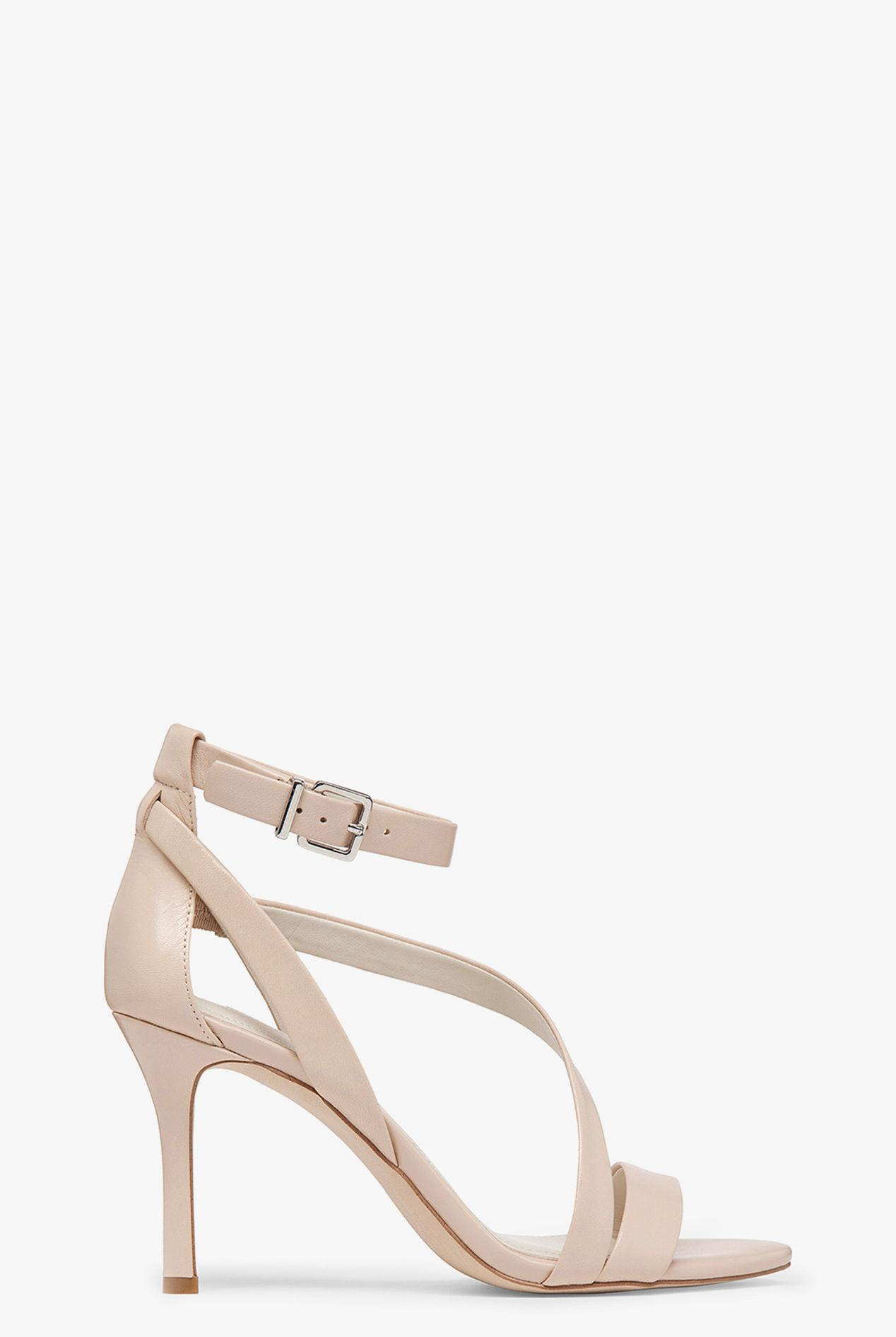 13ff468bf3e7 BCBGeneration Diego High-heel Ankle Wrap Strappy Sandal in Natural ...