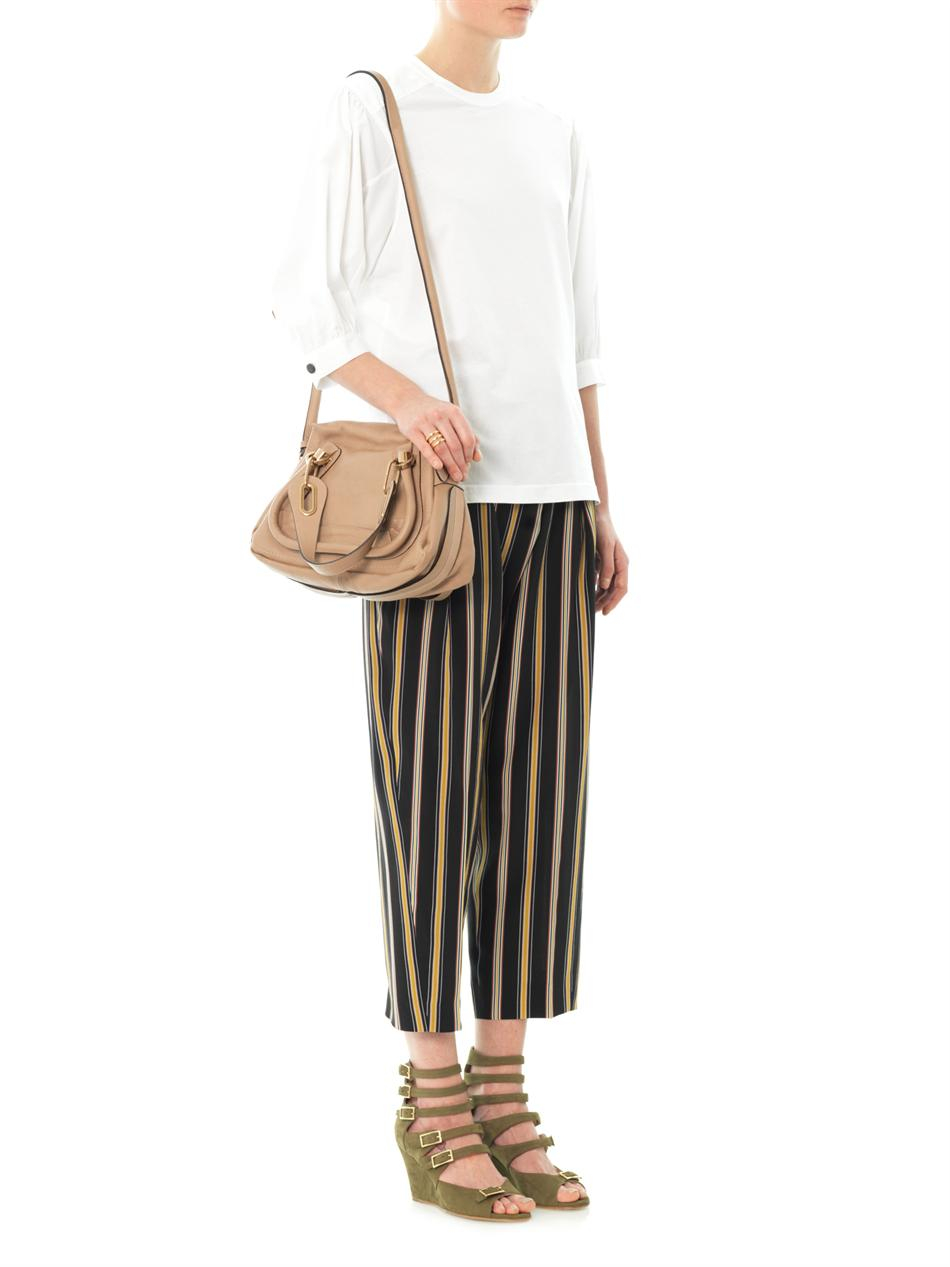 Chlo¨¦ Paraty Small Leather Bag in Beige (Neutral) | Lyst