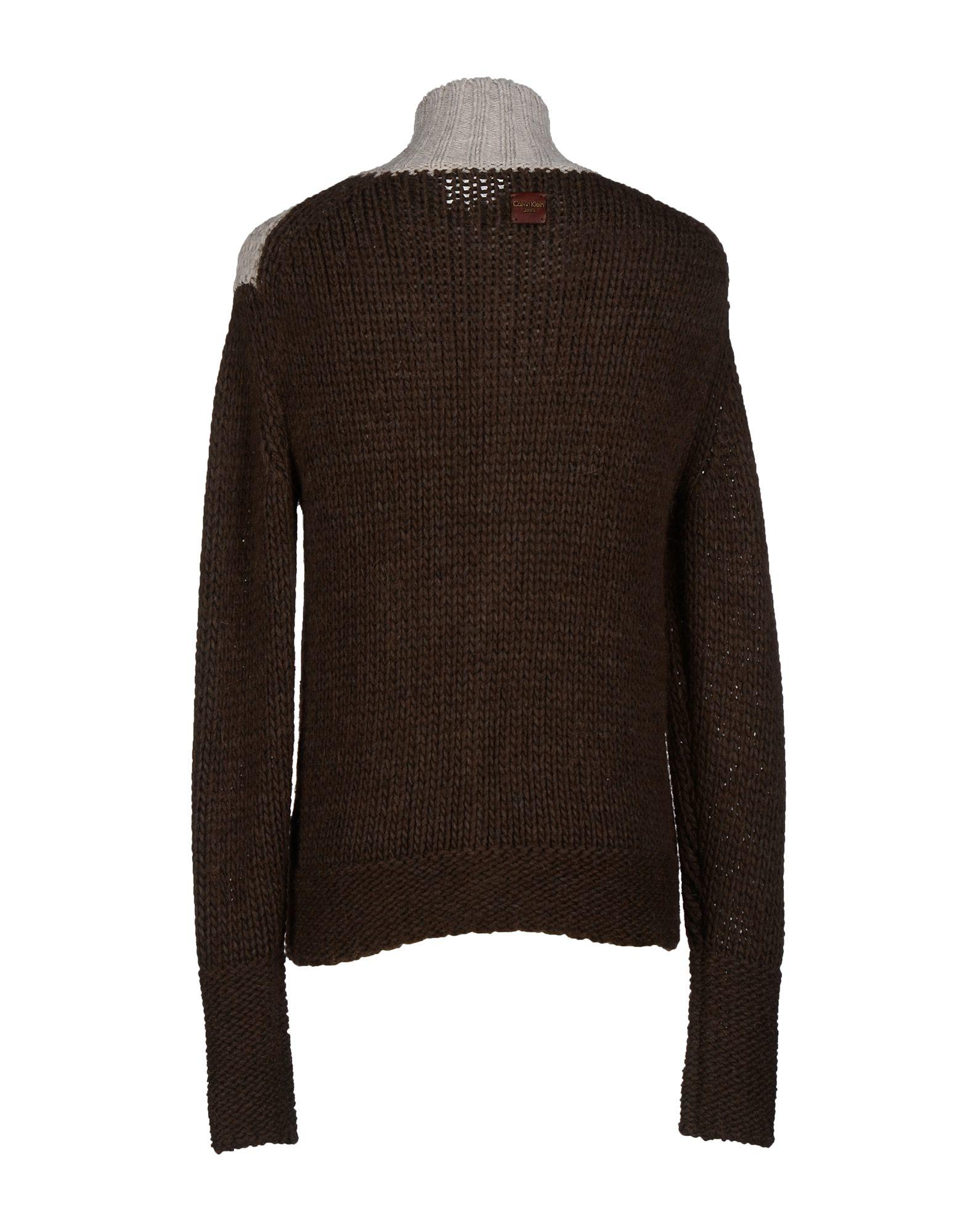 lyst calvin klein jeans cardigan in brown for men. Black Bedroom Furniture Sets. Home Design Ideas