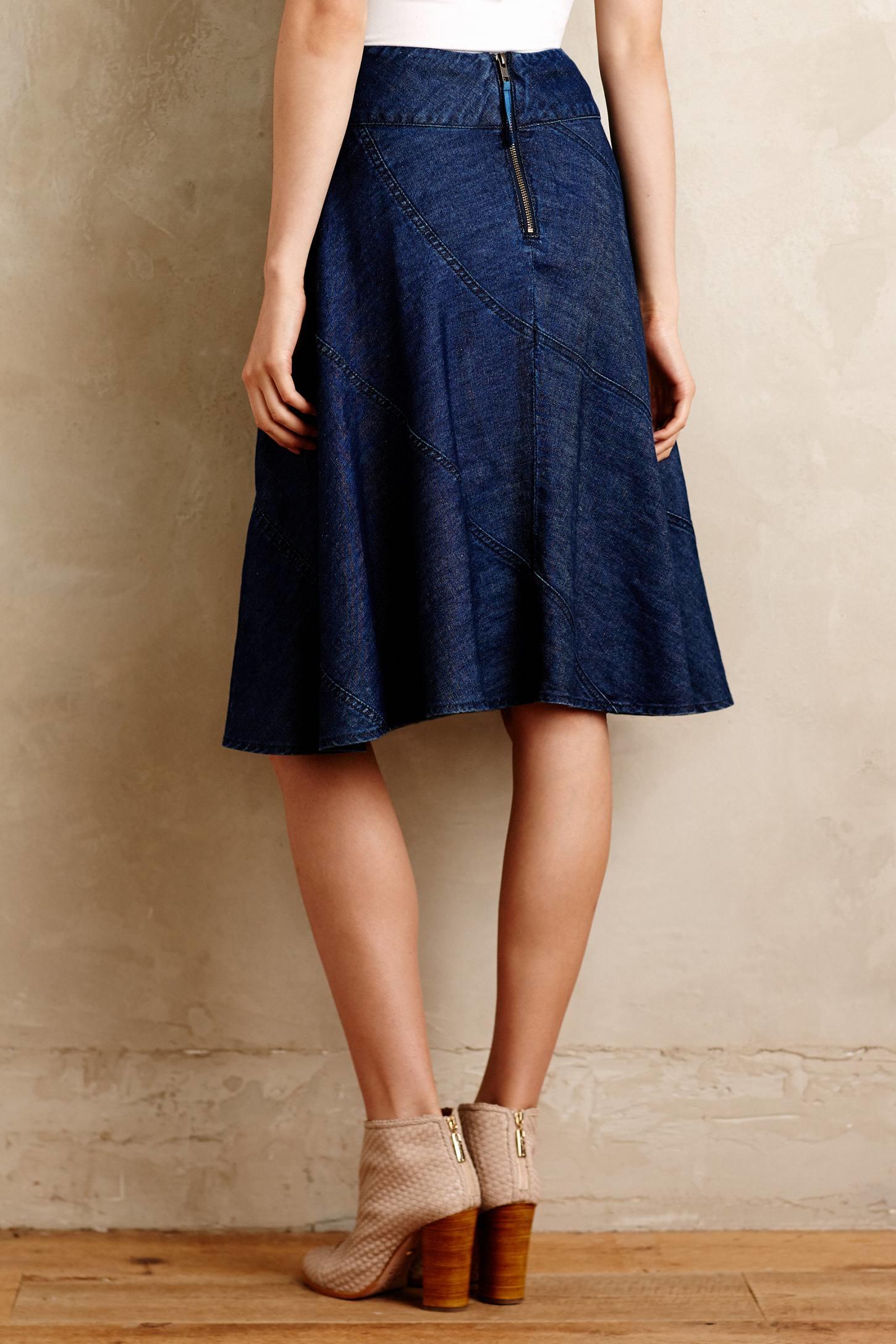 Jean Circle Skirt - Dress Ala