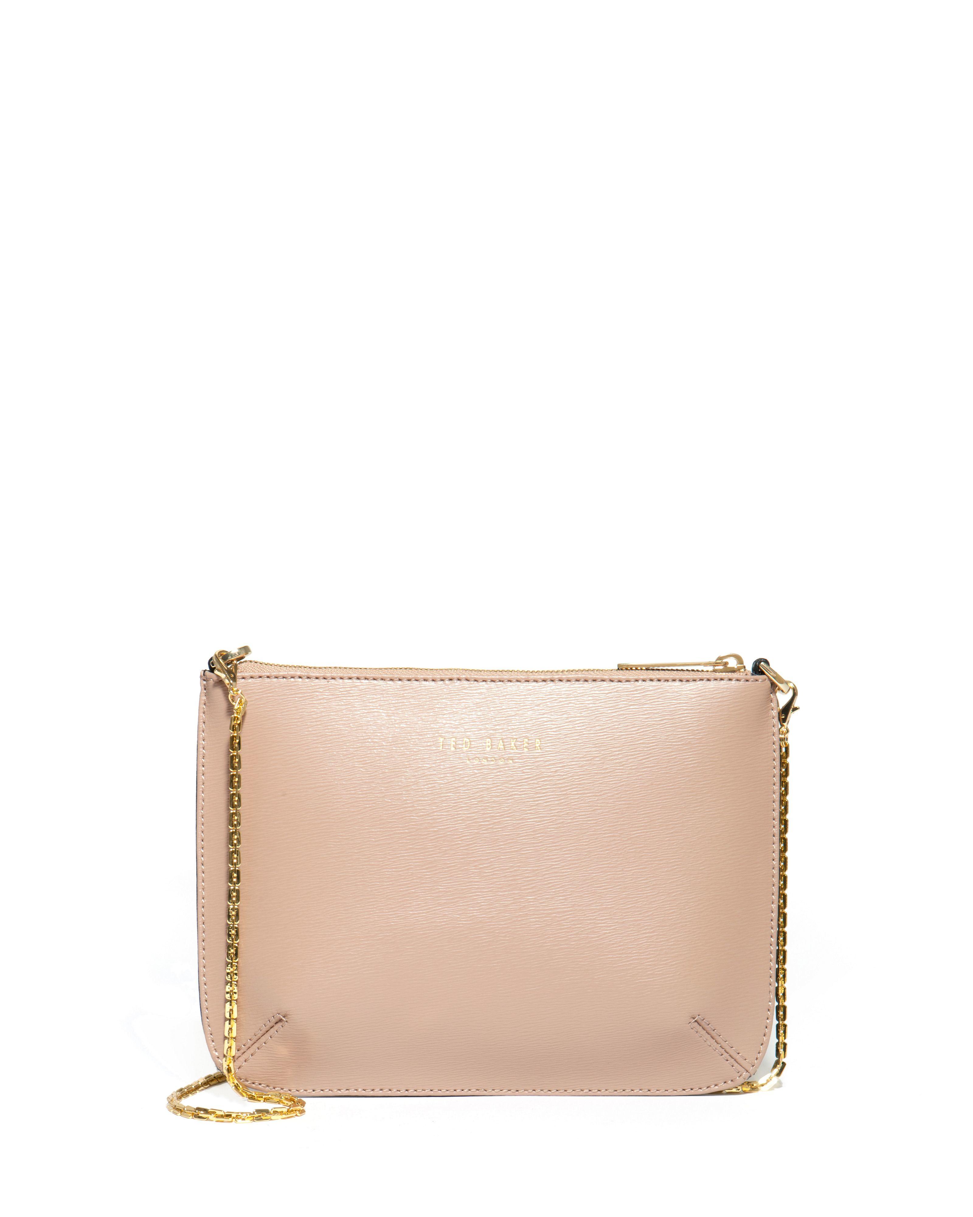 ted baker becky crosshatch clutch bag in beige cream lyst. Black Bedroom Furniture Sets. Home Design Ideas