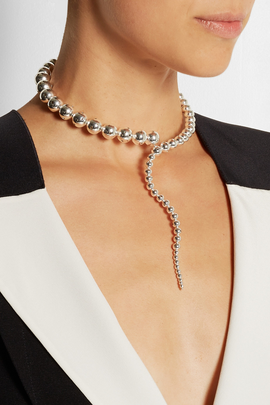 Paula Mendoza Glaucus Silver-Plated Necklace in Metallic