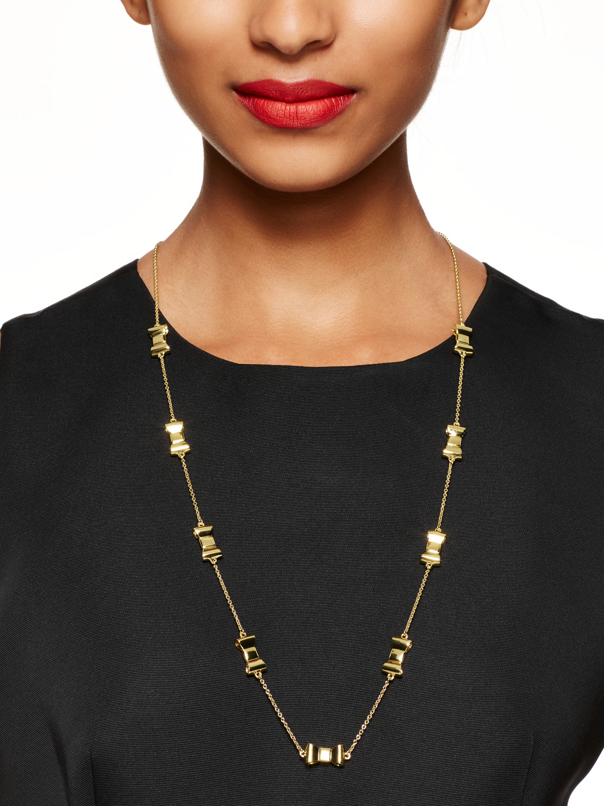 Kate Spade Take A Bow Scatter Necklace in Gold (Metallic ...
