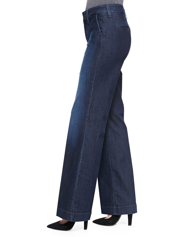 Nydj Wynonna Wideleg Trouser Jeans Petite in Blue | Lyst