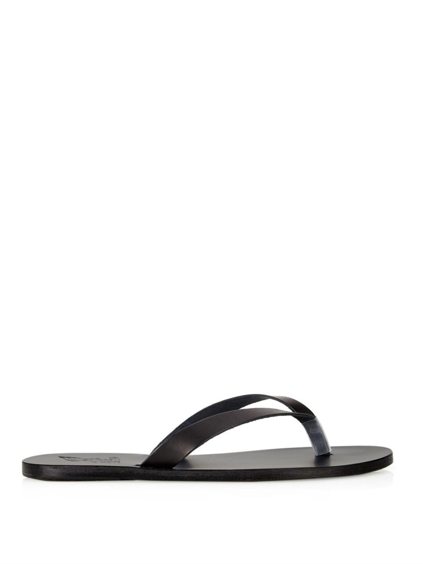 8c9a5ddd7095ce Ancient Greek Sandals Hero Leather Flip-Flops in Black for Men - Lyst