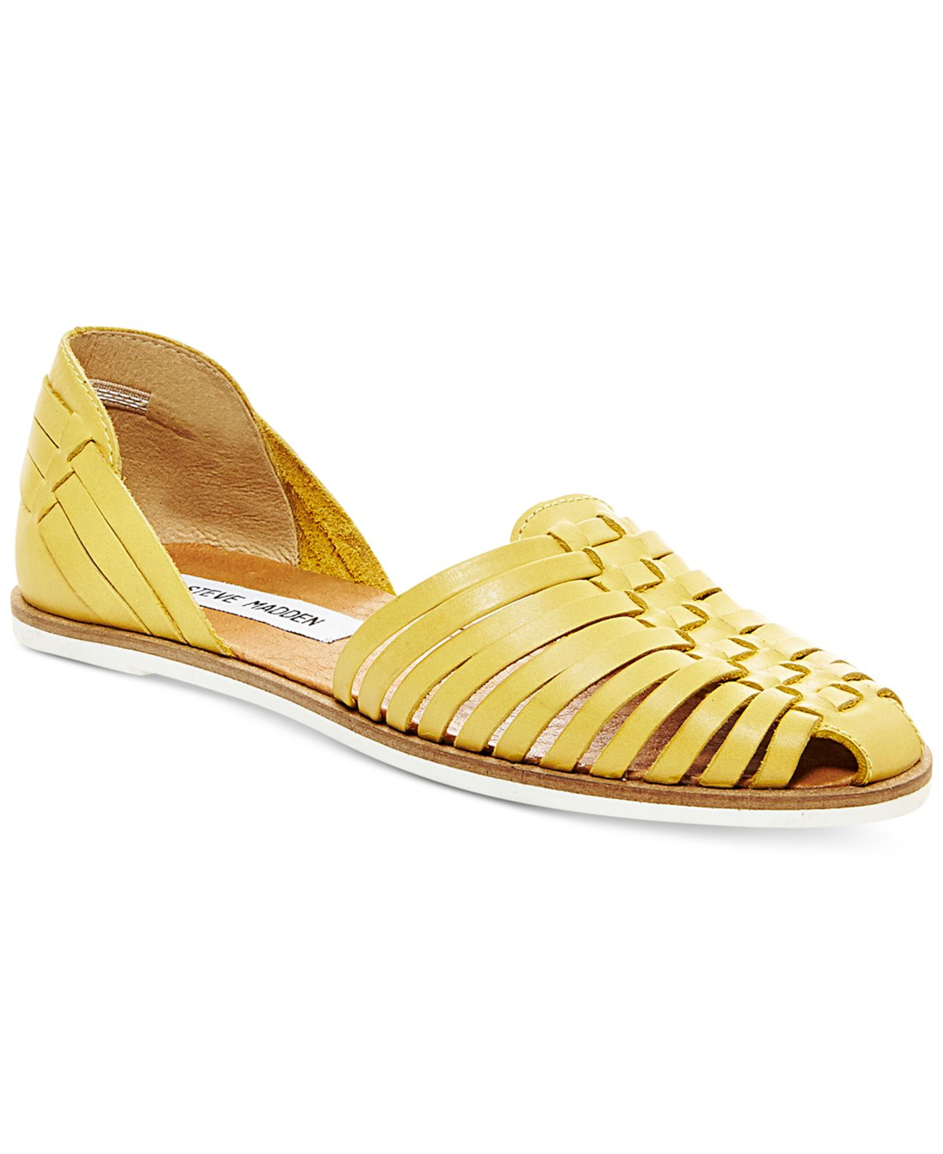 dabd5312c55 Steve Madden Yellow Women's Hillarie Huarache Slip-on Sandals