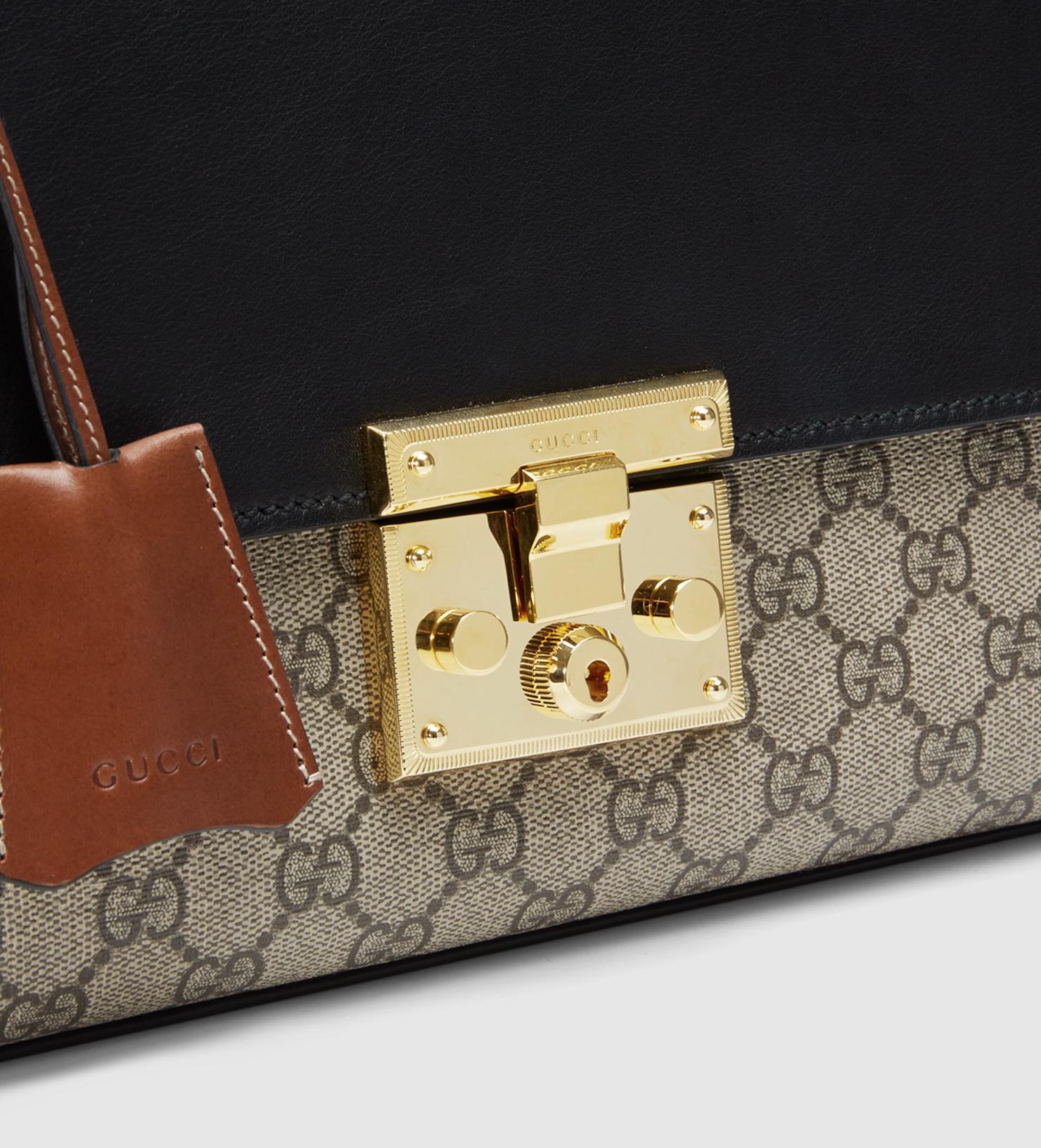 6284bba9792 Lyst - Gucci Padlock Gg Supreme Shoulder Bag in Brown