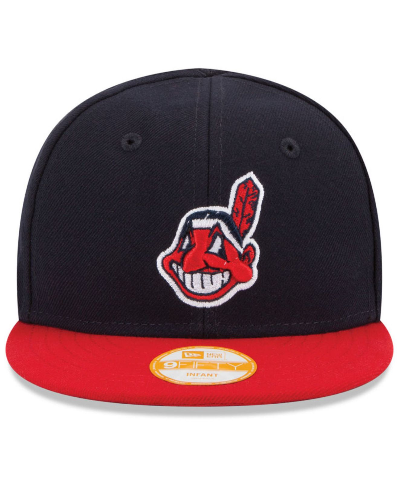 e0d8a868cd2 ... real lyst ktz babies cleveland indians 9fifty snapback cap in red for  men cc2ee f1e37