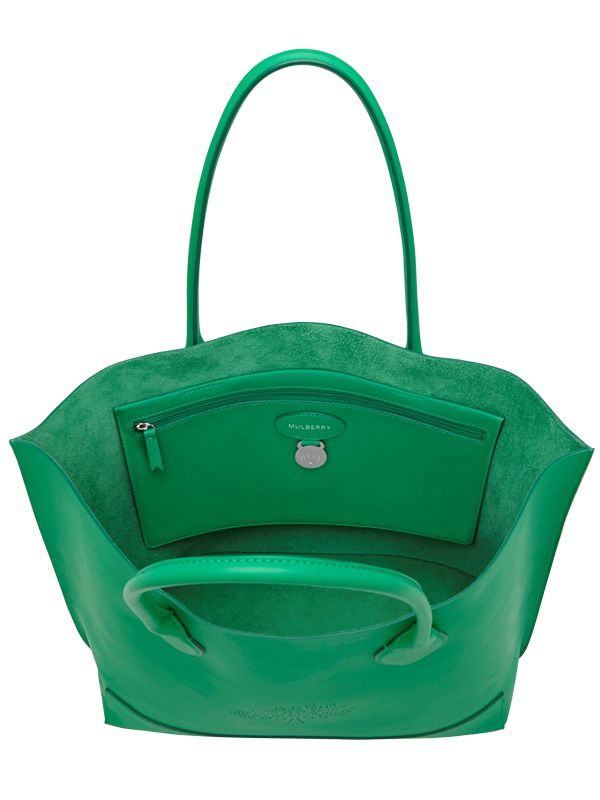 f223025be4 Lyst - Mulberry Blossom Nappa Leather Tote Bag in Green