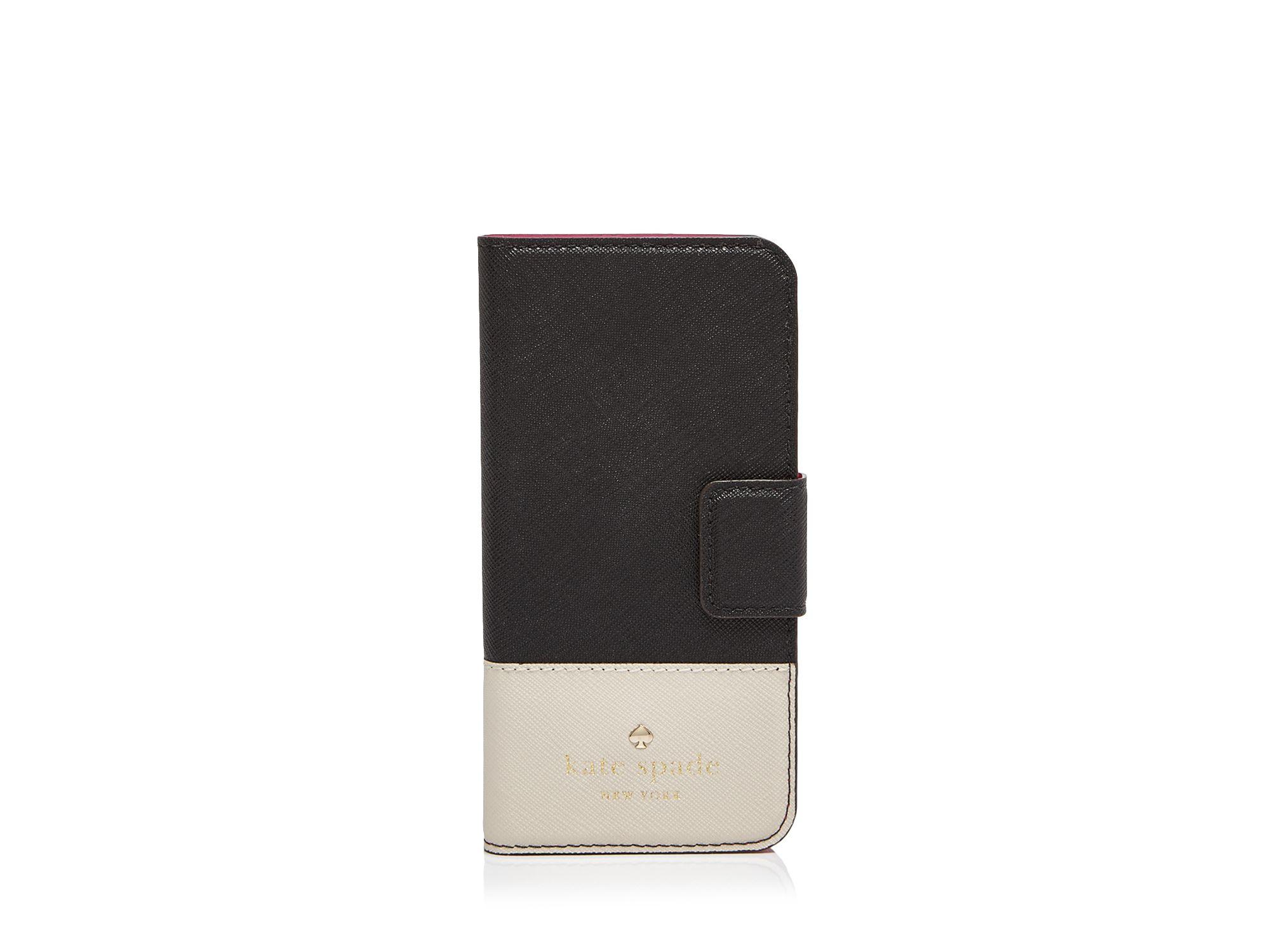 lowest price 97e67 ed576 kate spade new york Black Cedar Street Folio Iphone 6 Case