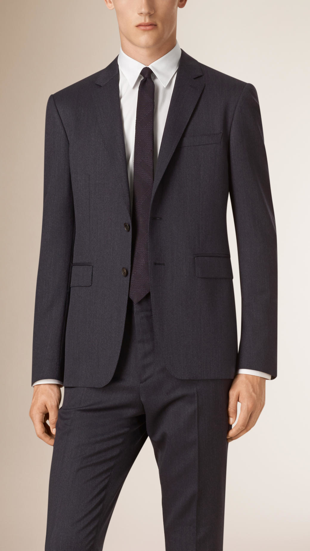 Burberry Slim Fit Travel Tailoring Wool Jacket in Gray for ...