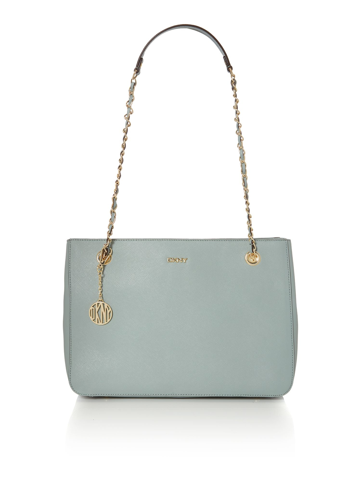 DKNY Saffiano Light Blue Medium Tote Bag