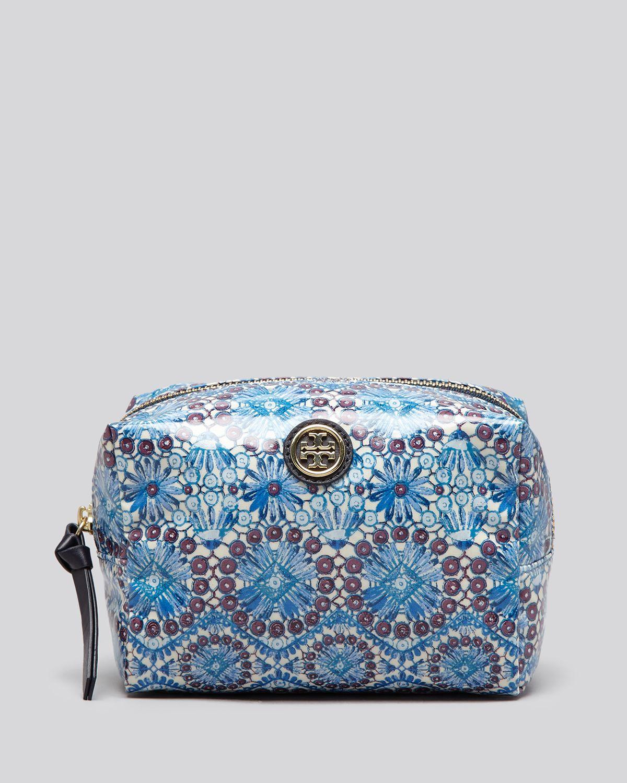 Lyst Tory Burch Cosmetic Case Brigitte Blue