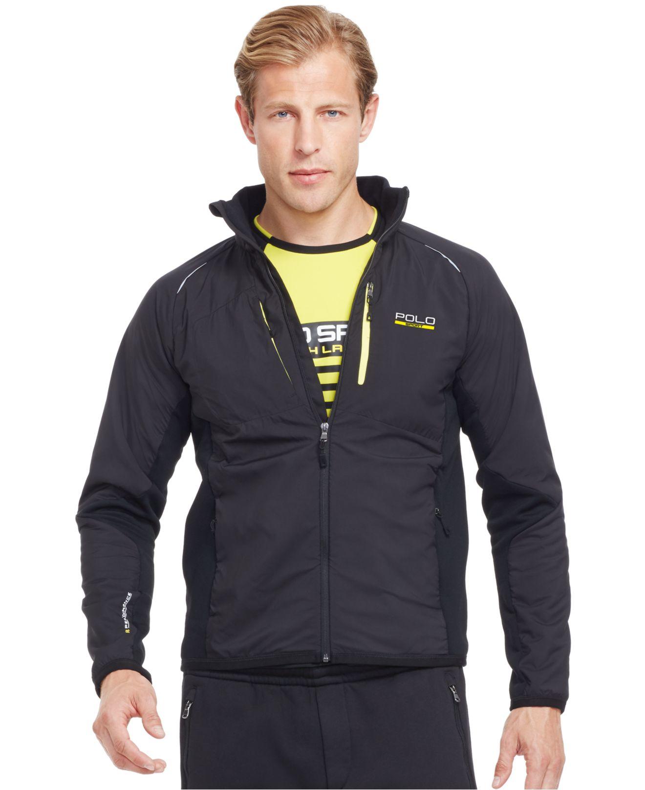 polo ralph lauren polo sport hybrid tech jacket in black. Black Bedroom Furniture Sets. Home Design Ideas