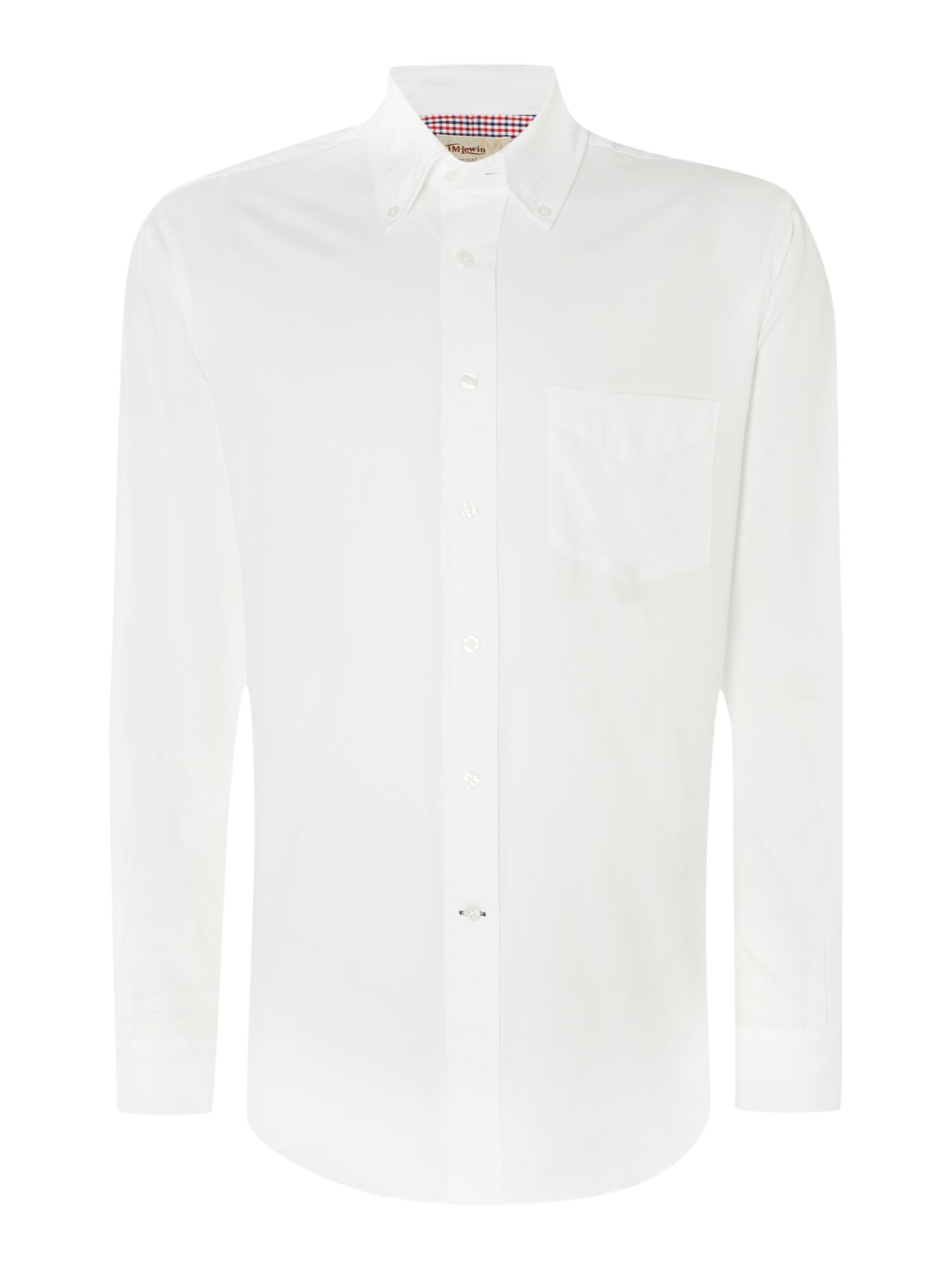 Lyst tm lewin oxford classic fit long sleeve button down for Oxford long sleeve button down shirt