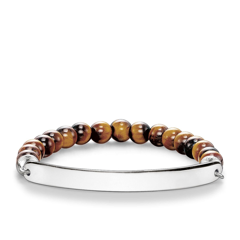 thomas sabo love bridge tiger s eye bracelet in brown lyst. Black Bedroom Furniture Sets. Home Design Ideas