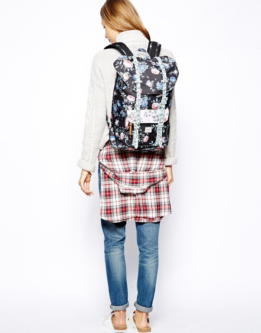 391d2f149774 Lyst - Herschel Supply Co. Little America Mid Backpack in Floral ...