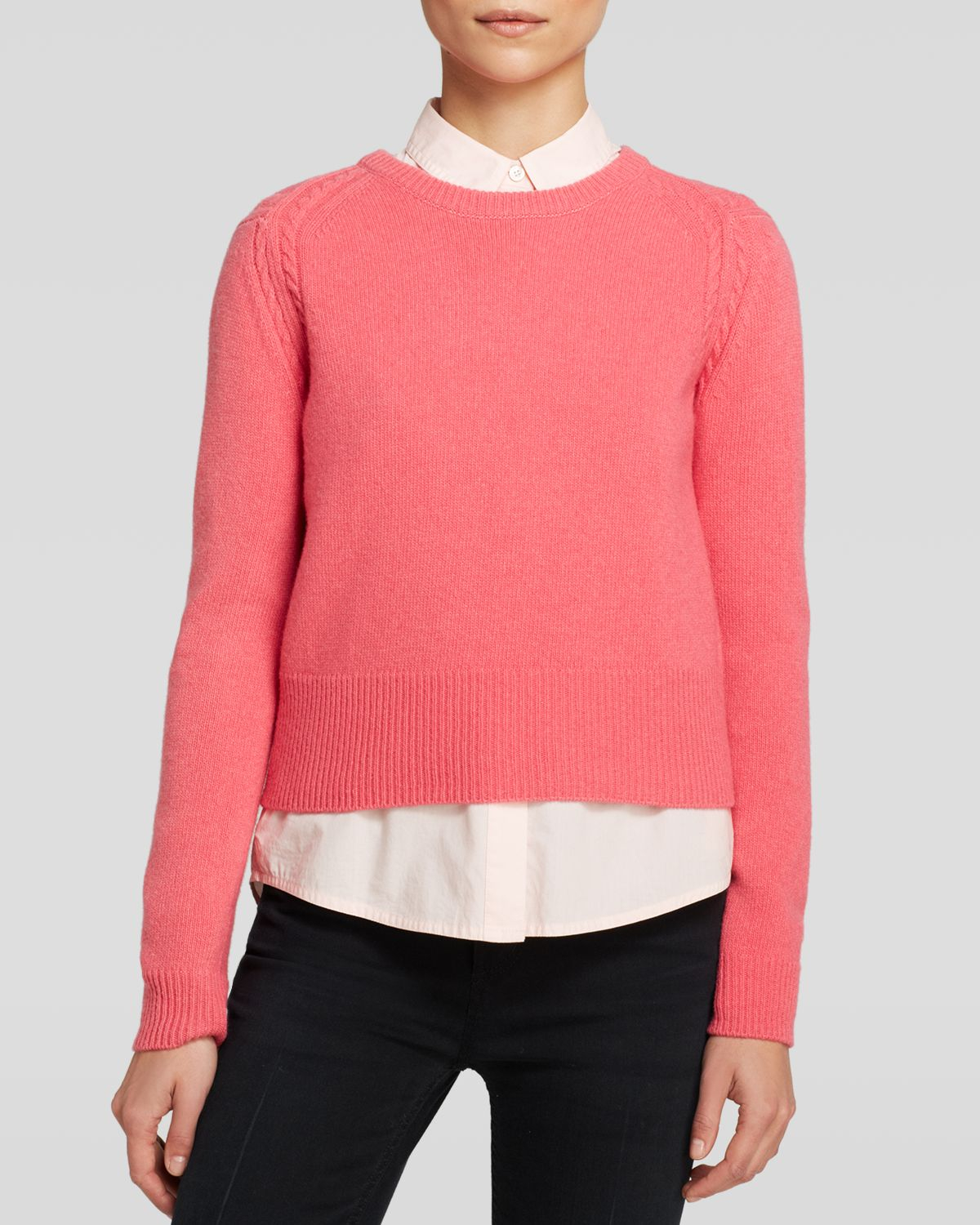 marc by marc jacobs sweater iris wool in pink lyst. Black Bedroom Furniture Sets. Home Design Ideas