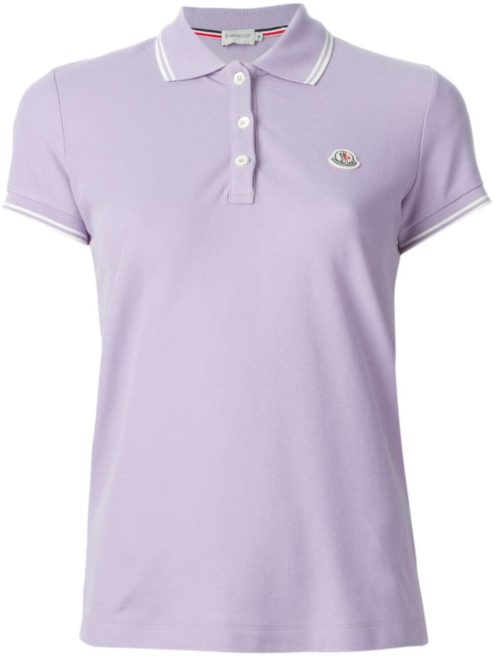 Moncler Classic Polo Shirt In Purple Pink Purple Lyst