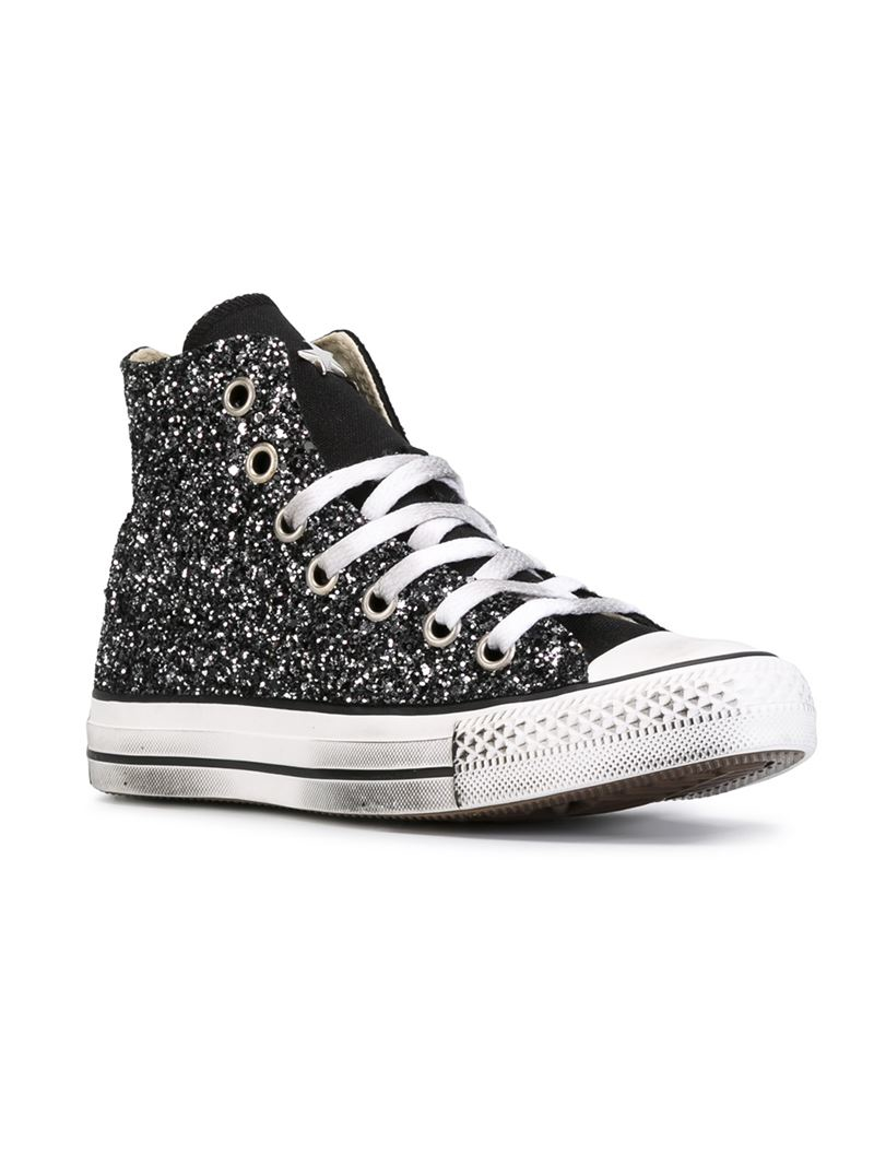 a38ed6f2a224 Converse 'all Star' Glitter Hi-top Sneakers in Black for Men - Lyst