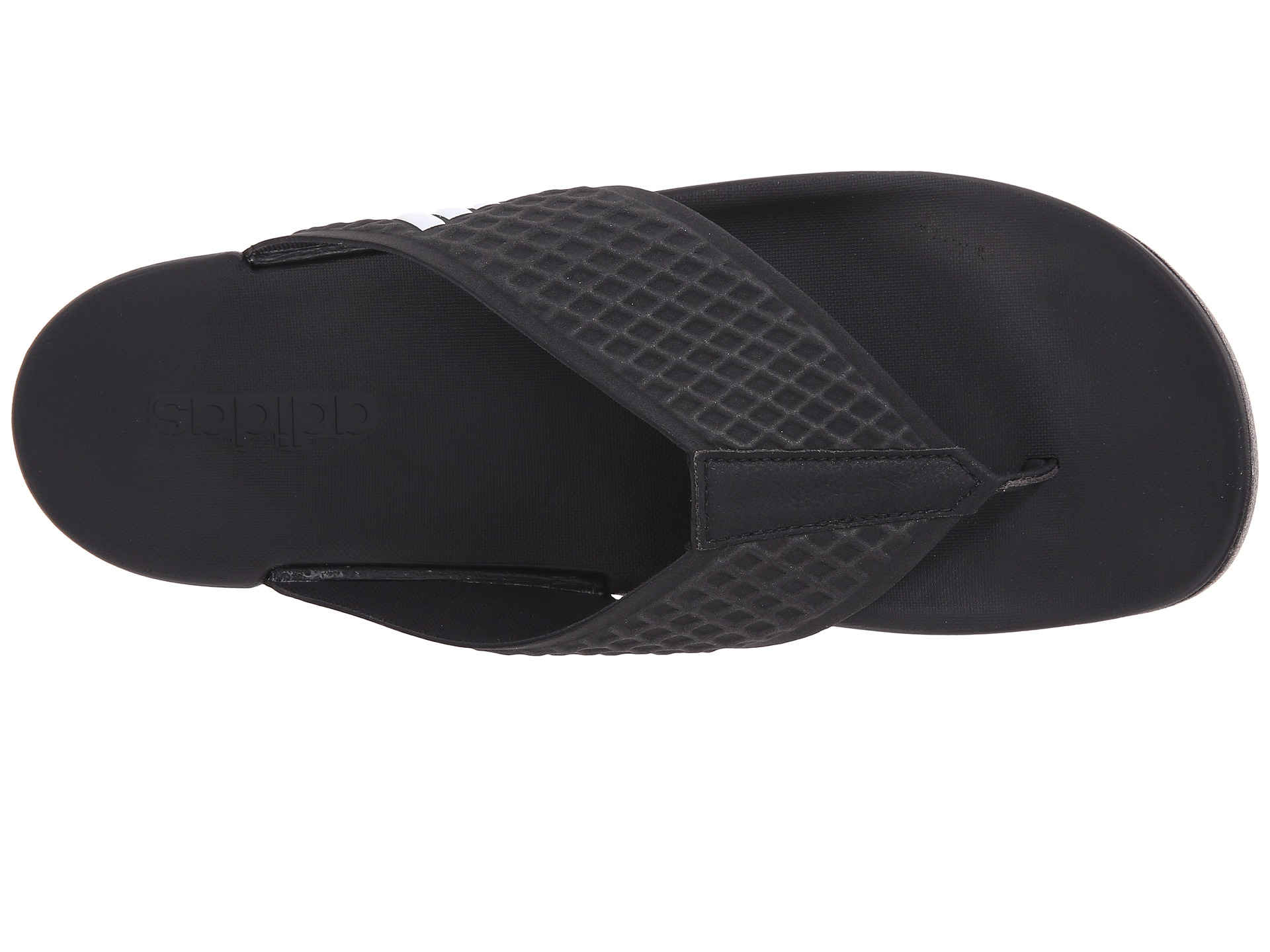 Adidas Originals Adilette Sc Plus Thong In Black For Men